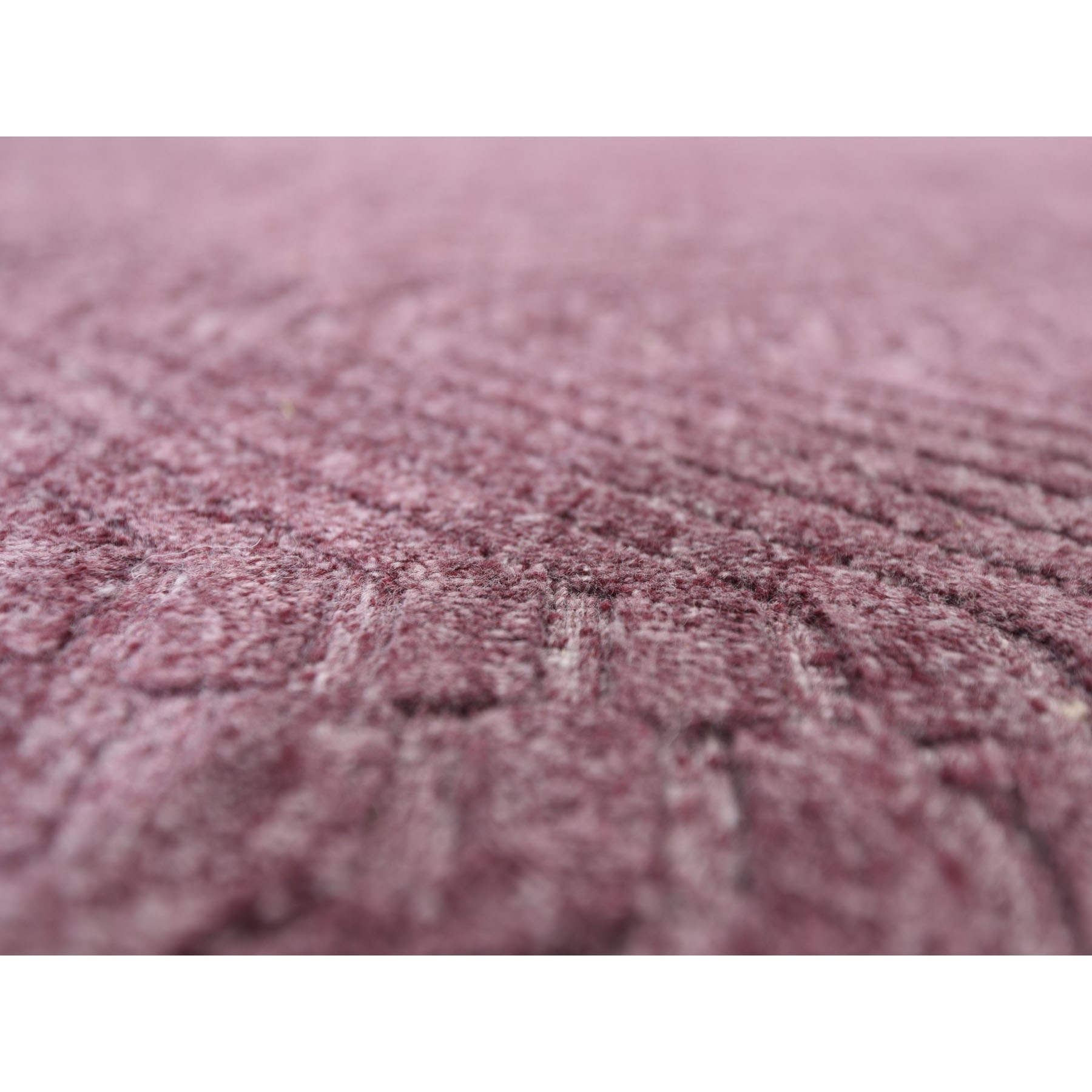 10-1 x14-2  Lavender Wool and Silk Tone on Tone Hand Loomed Oriental Rug
