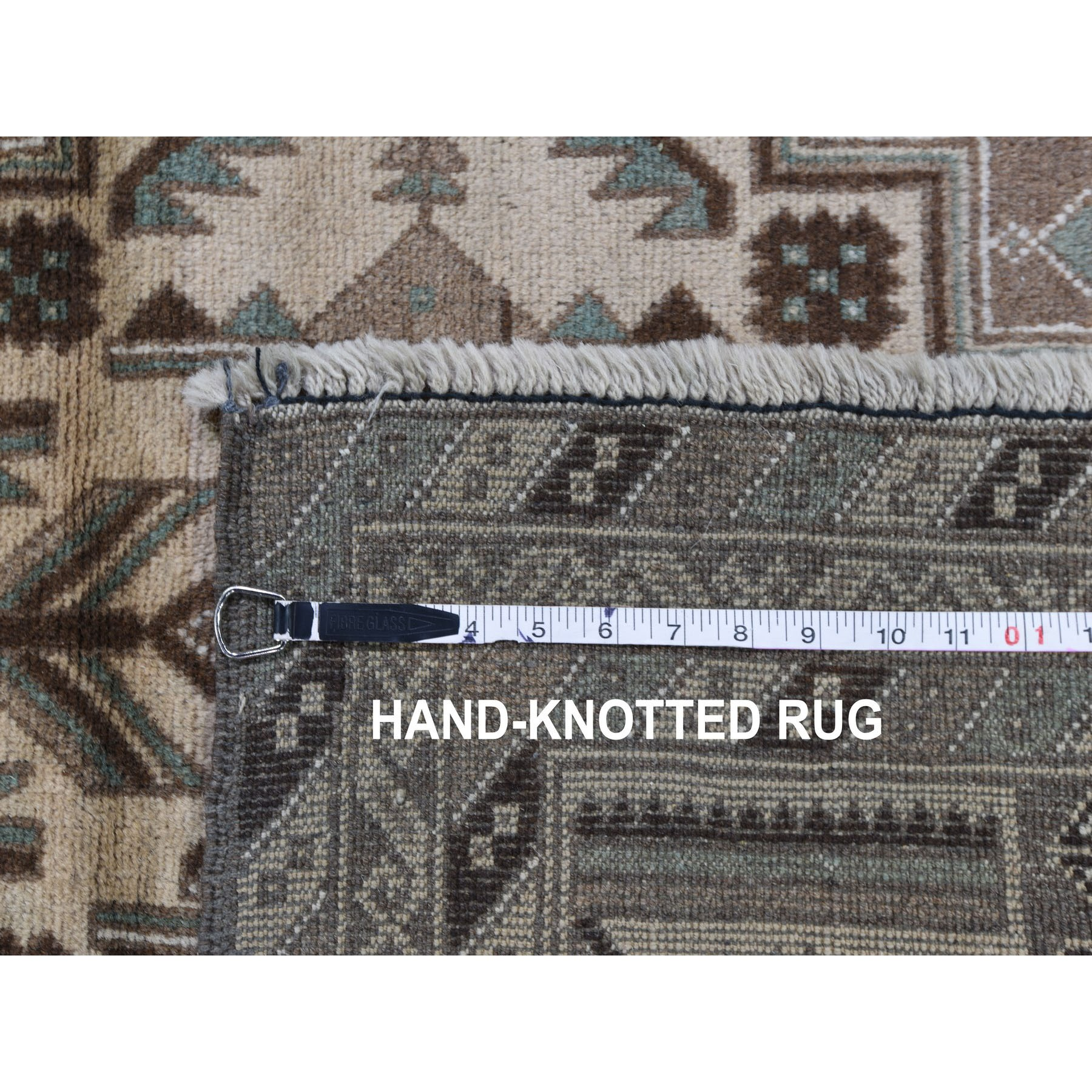 3-1 x5-1  Washed Out Afghan Baluch Pure Wool Hand Knotted Oriental Rug