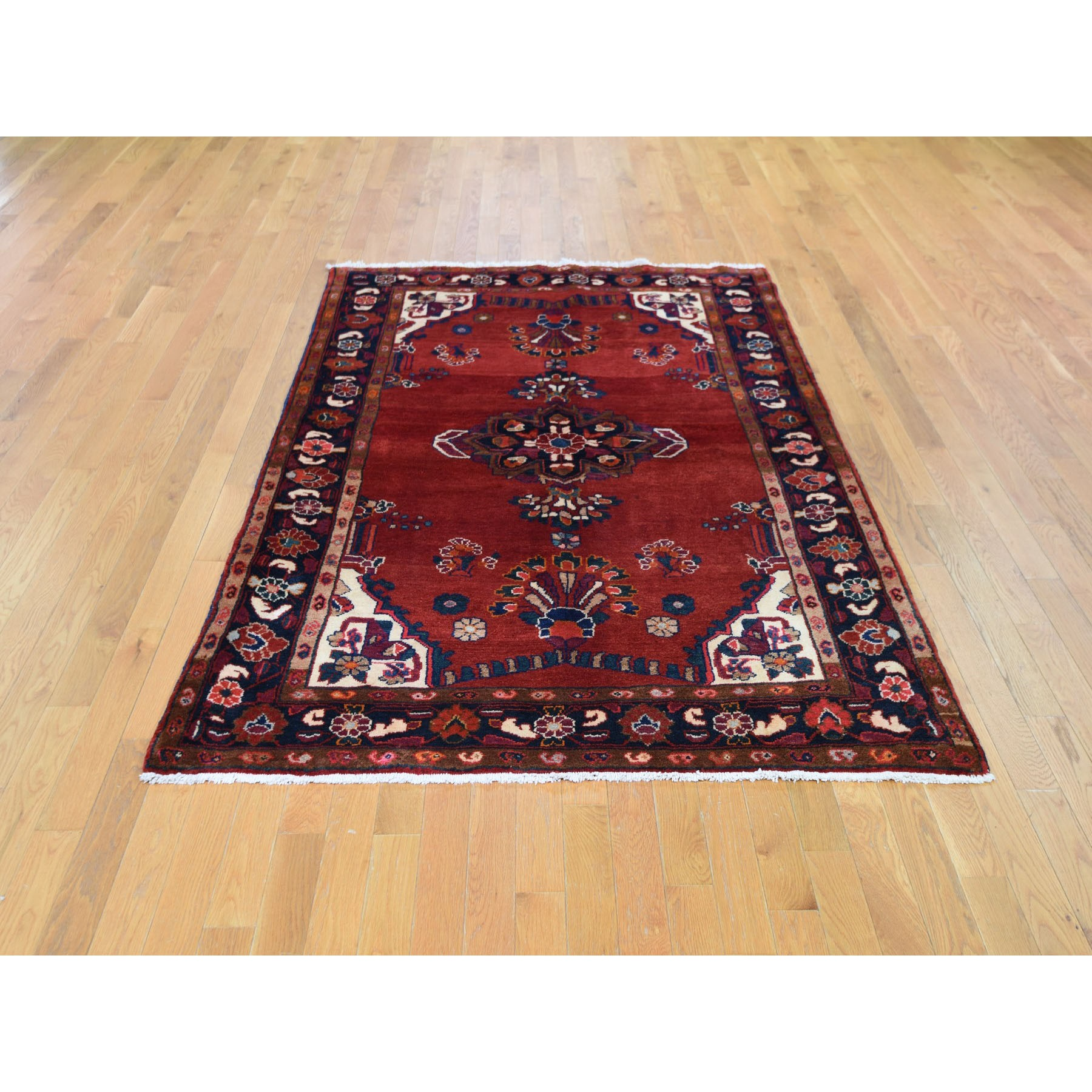 5-2 x7-3  Red New Persian Lilihan Pure Wool Hand Knotted Oriental Rug
