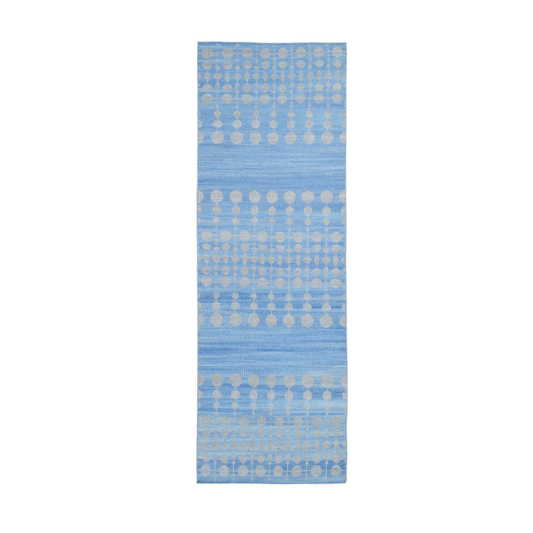 "2'7""X7'10"" Hand Woven Flat Weave Pure Wool Runner Reversible Kilim Oriental Rug moad97c9"