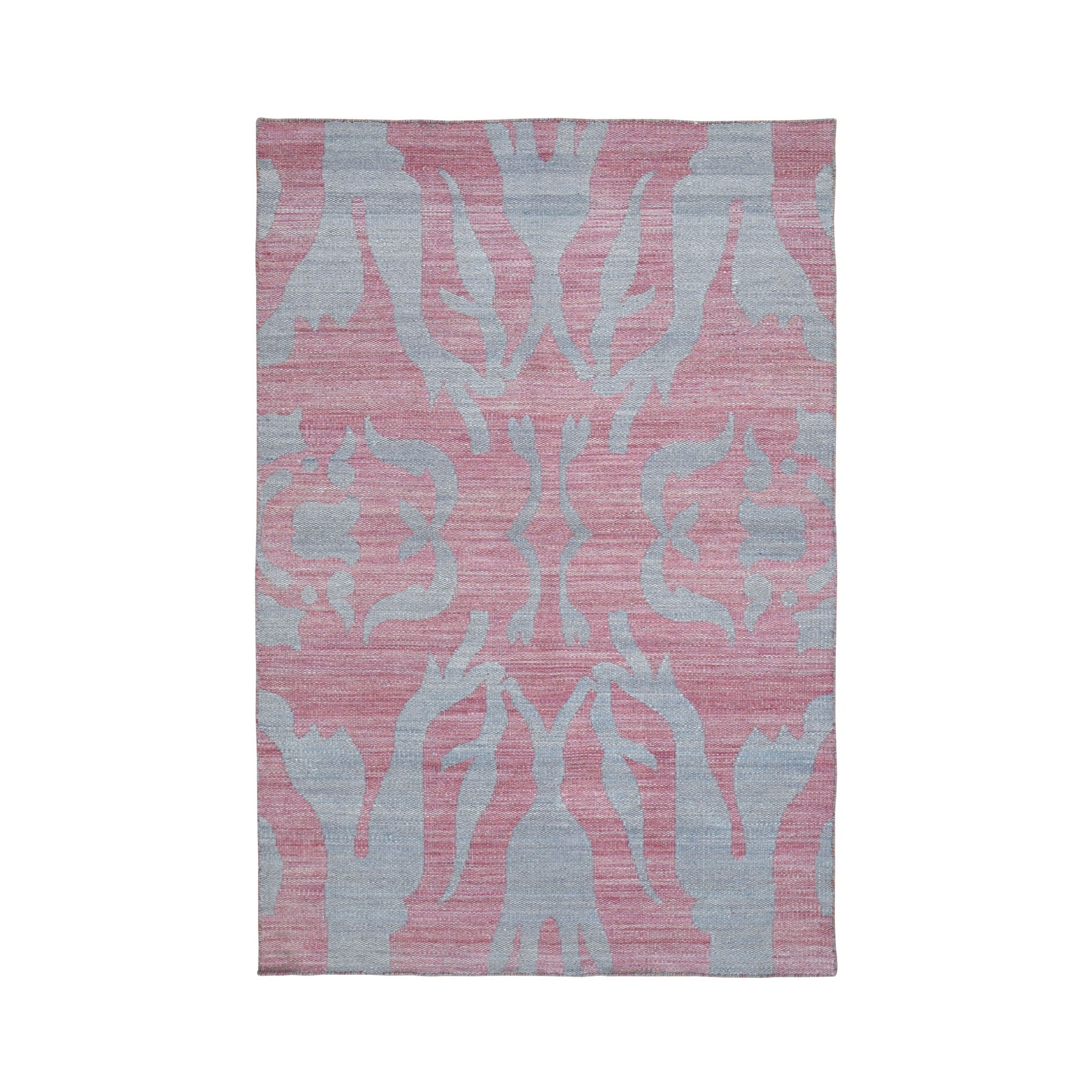 4'x6' Pure Wool Reversible Kilim Flat Weave Hand Woven Oriental Rug