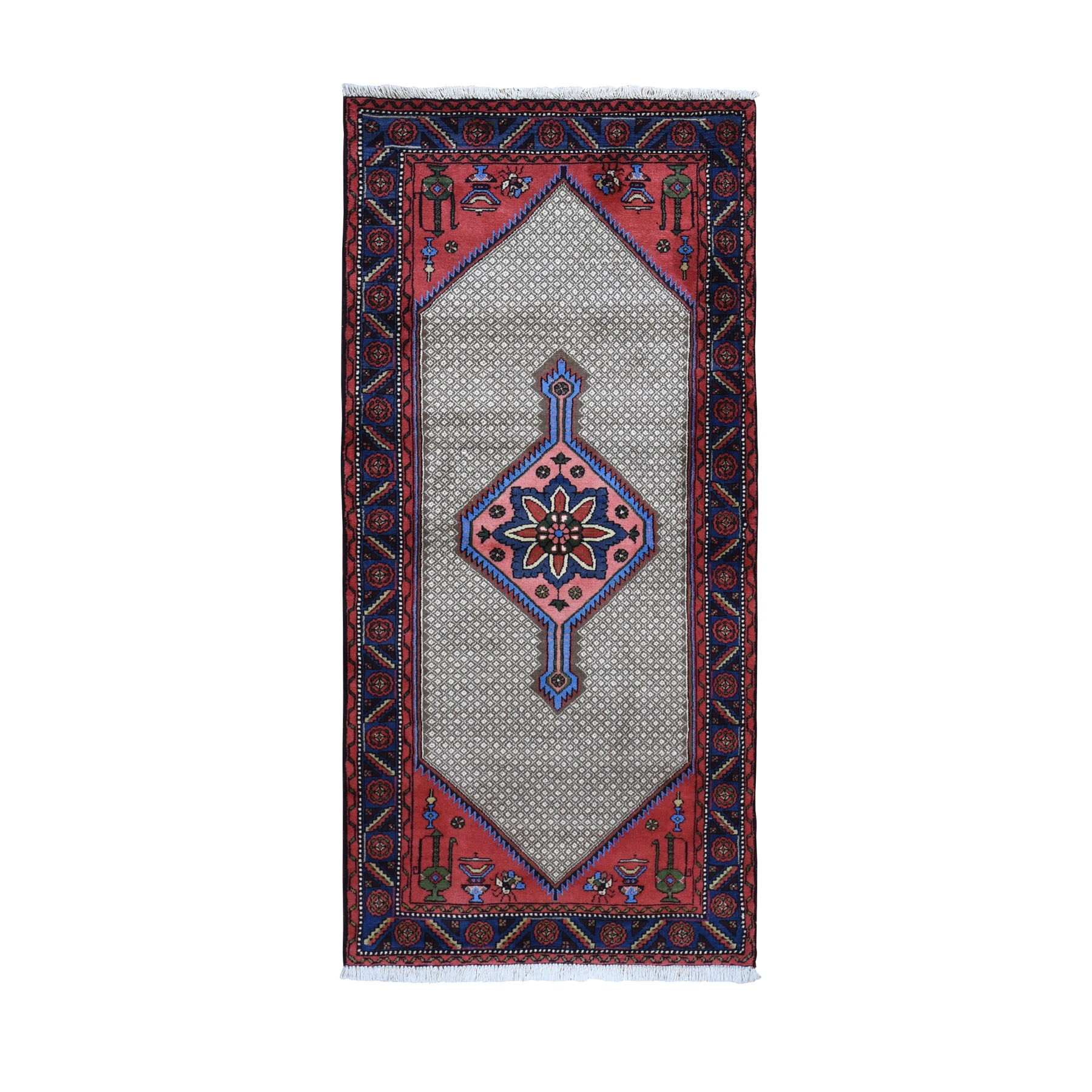 """3'1""""X6'7"""" New Persian Camel Hair Serab With Uns And Lamps Pure Wool Full Pile Runner Oriental Rug moad97dd"""