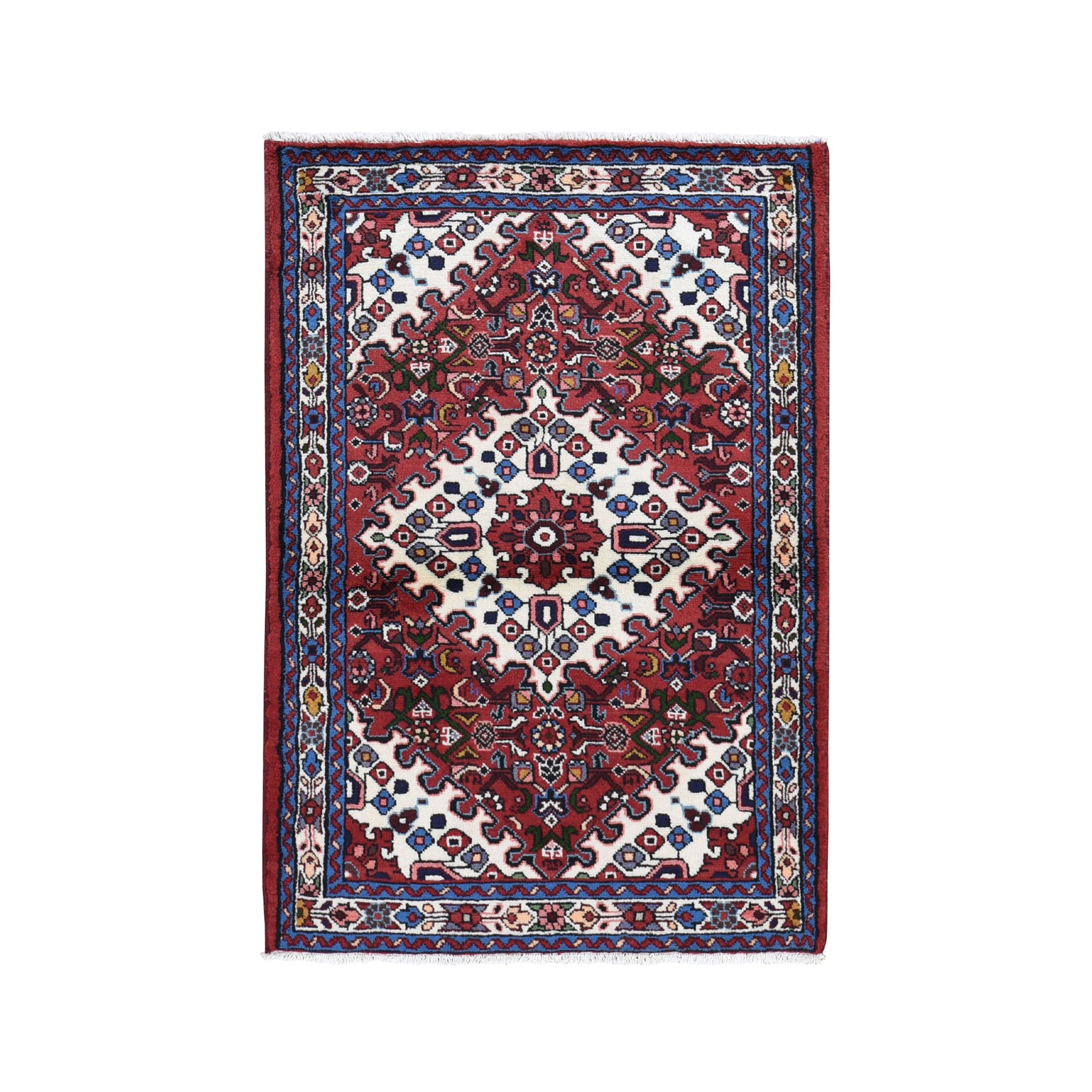 3-5 x5-1  Red New Persian Hamadan Pure Wool Hand Knotted Oriental Rug