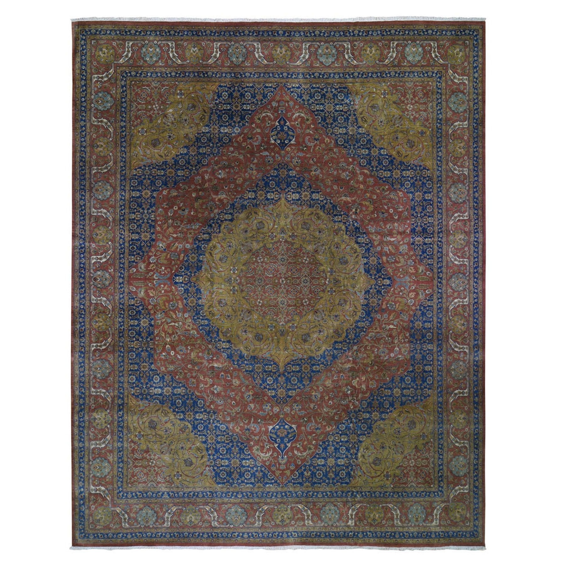 12'X15' Oversized Tabriz 300 Kpsi New Zealand Wool Hand Knotted Oriental Rug moad9767