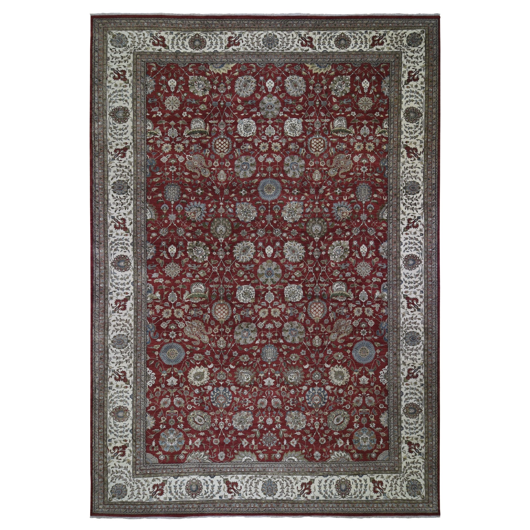 "11'10""X18' Oversized All Over Tabriz Design 300 Kpsi New Zealand Wool Hand Knotted Oriental Rug moad9769"