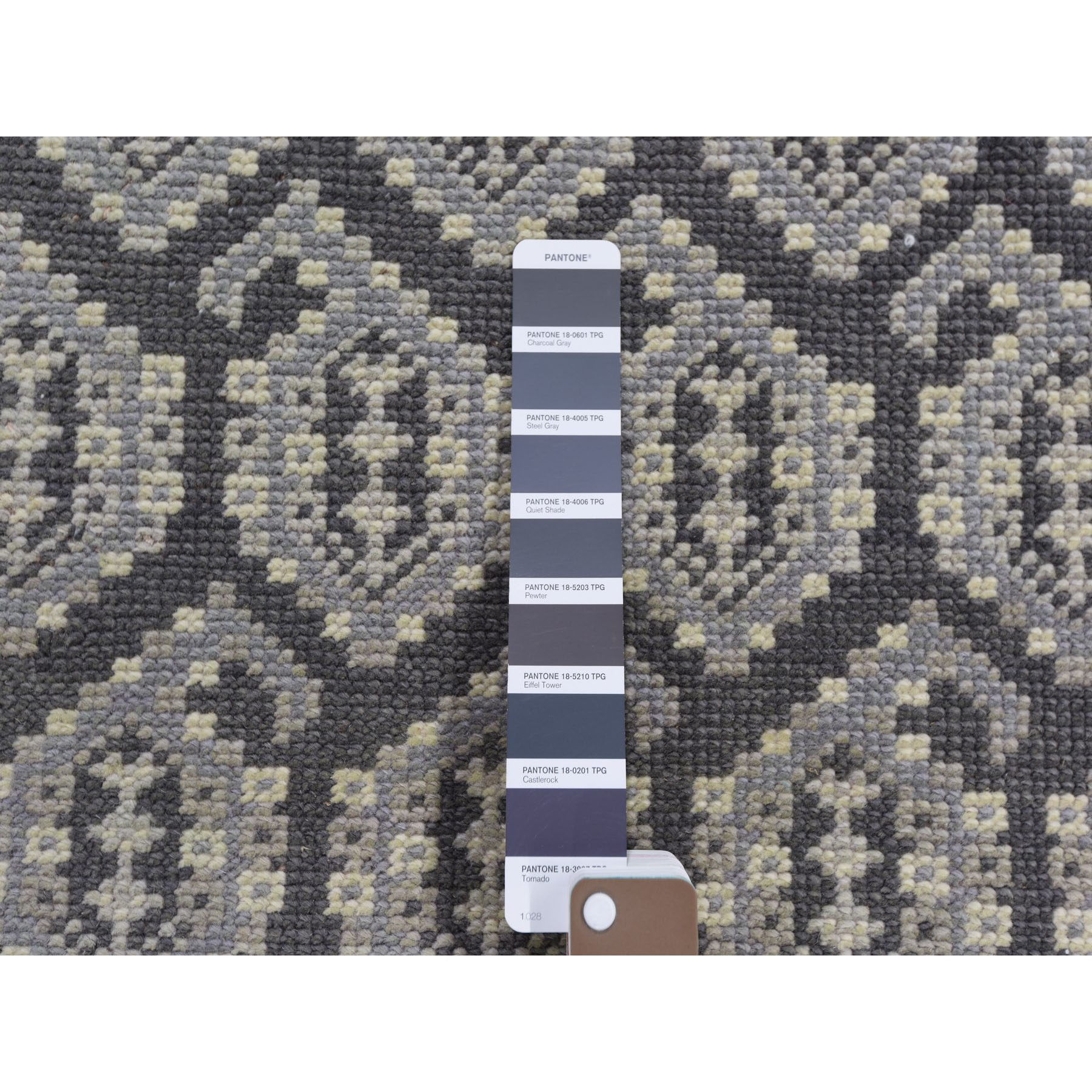 "11'9""x15' Gray Oversized All Over Paisley Design Turkish Knot Oushak Hand Knotted Oriental Rug"