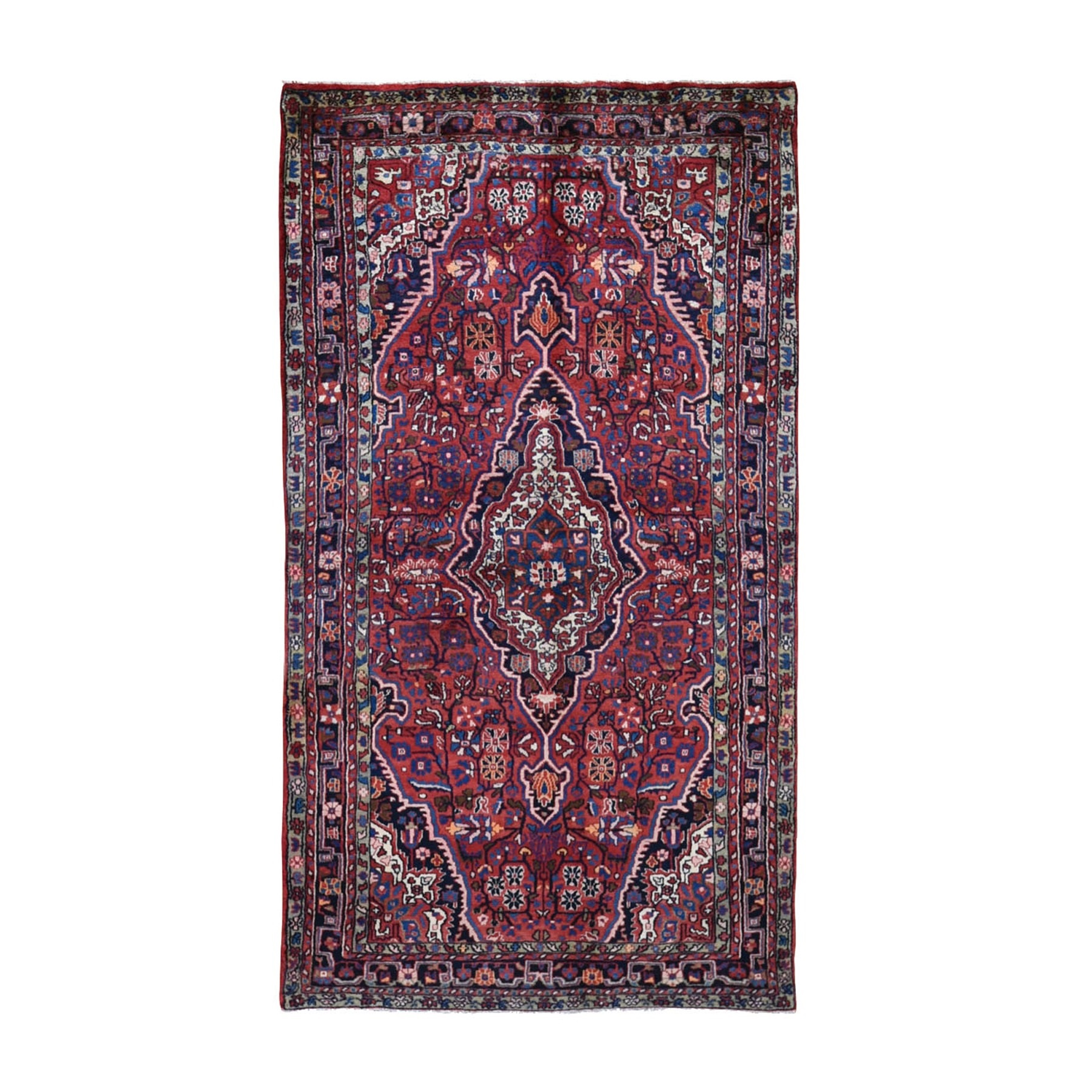 "5'X8'10"" Red Vintage North West Persian Pure Wool Hand Knotted Oriental Rug moad9798"