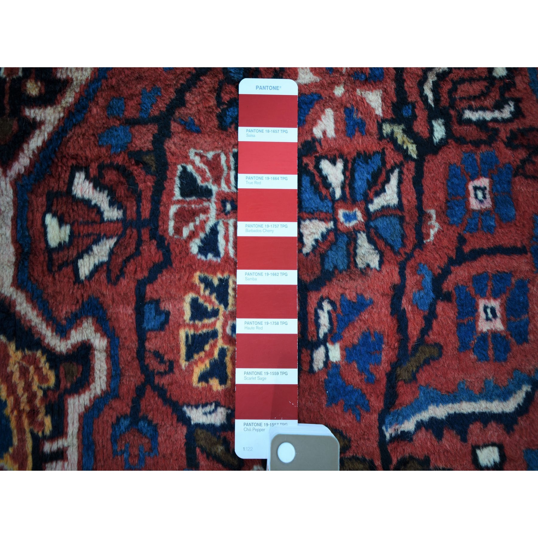 """5'x8'10"""" Red Vintage North West Persian Pure Wool Hand Knotted Oriental Rug"""