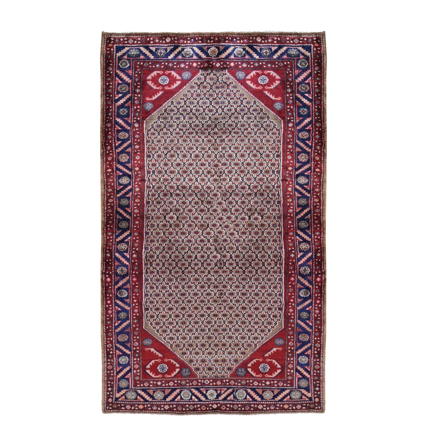 "5'X9'6"" Gallery Size Mocha New Persian Serab Camel Hair Full Pile Pure Wool Hand Knotted Oriental Rug moad9799"