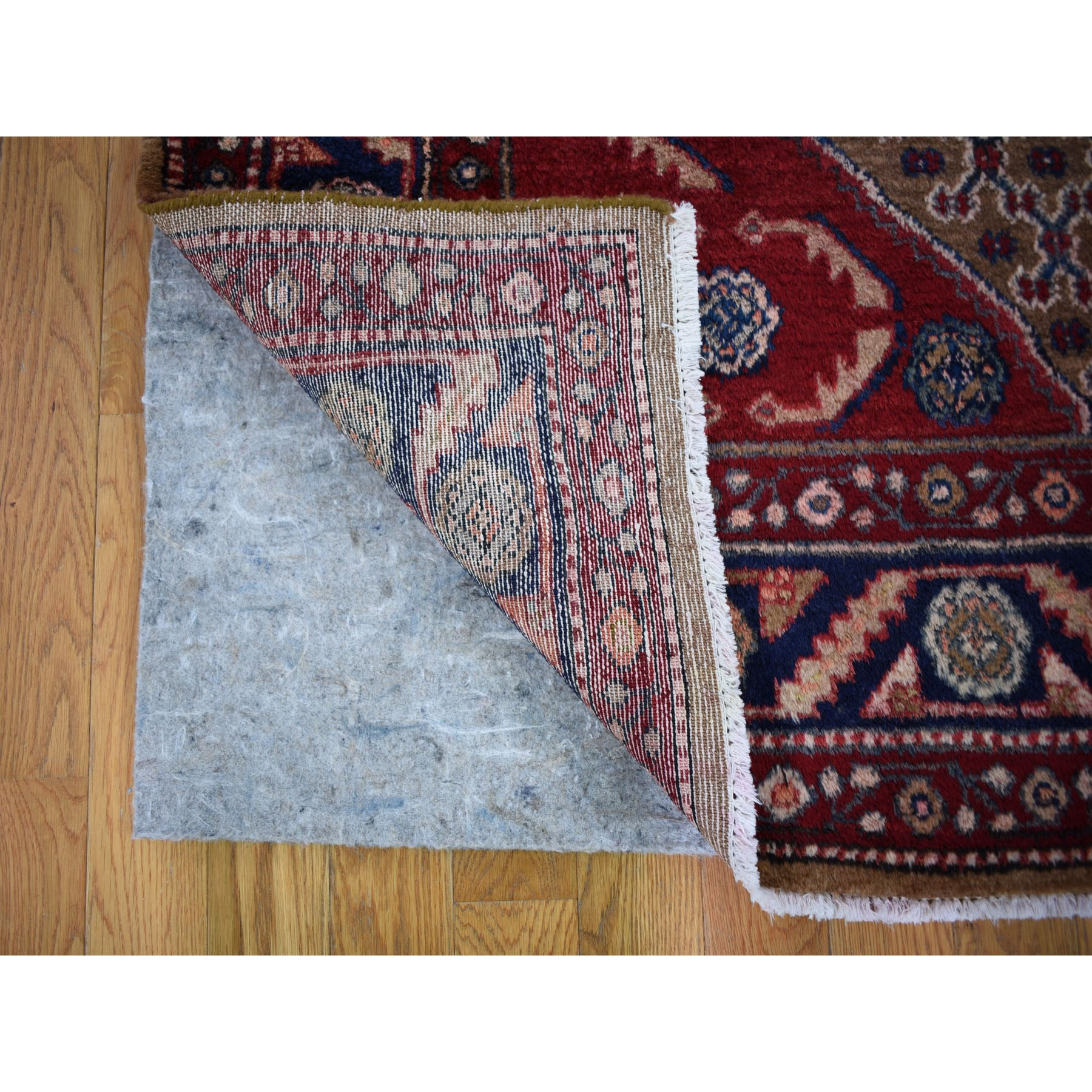 """5'x9'6"""" Gallery Size Mocha New Persian Serab Camel Hair Full Pile Pure Wool Hand Knotted Oriental Rug"""