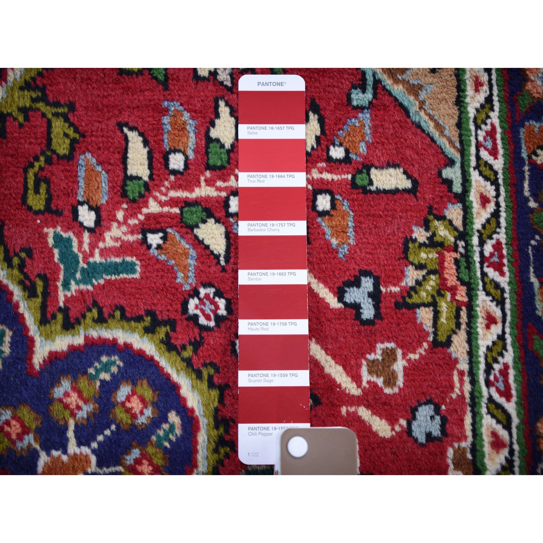 """3'3""""x4'10"""" Red Vintage Persian Tabriz Full Pile Pure Wool Hand Knotted Oriental Rug"""
