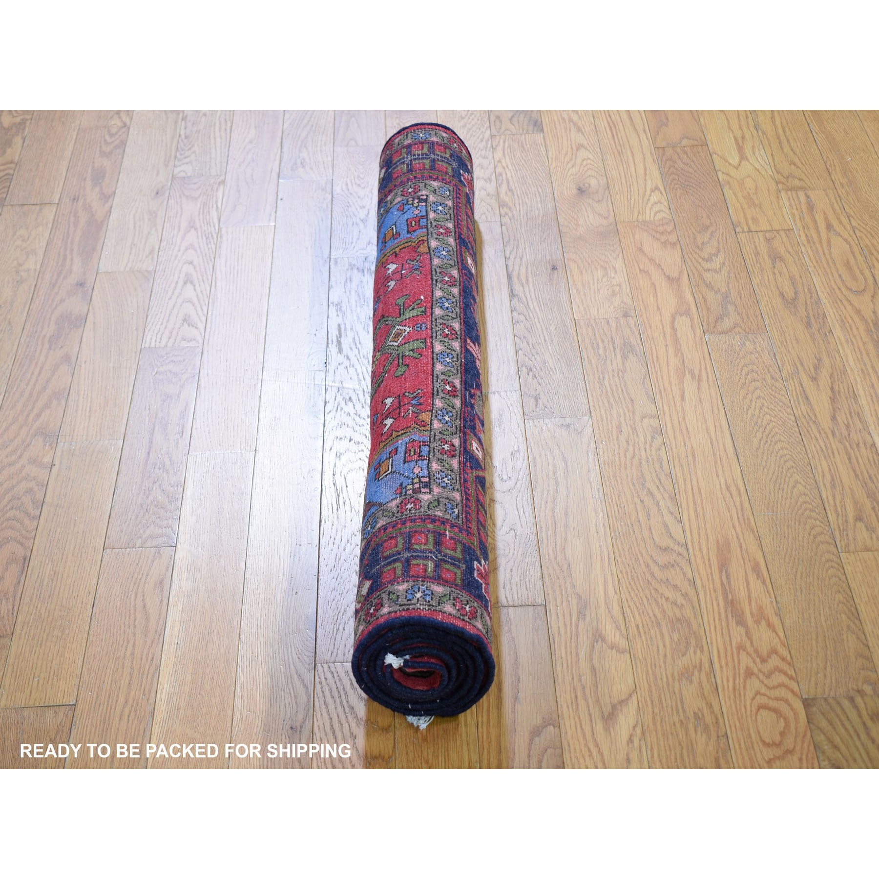 """3'2""""x5'2"""" Red New Persian Hamadan Geometric Medallion Pure Wool Hand Knotted Oriental Rug"""
