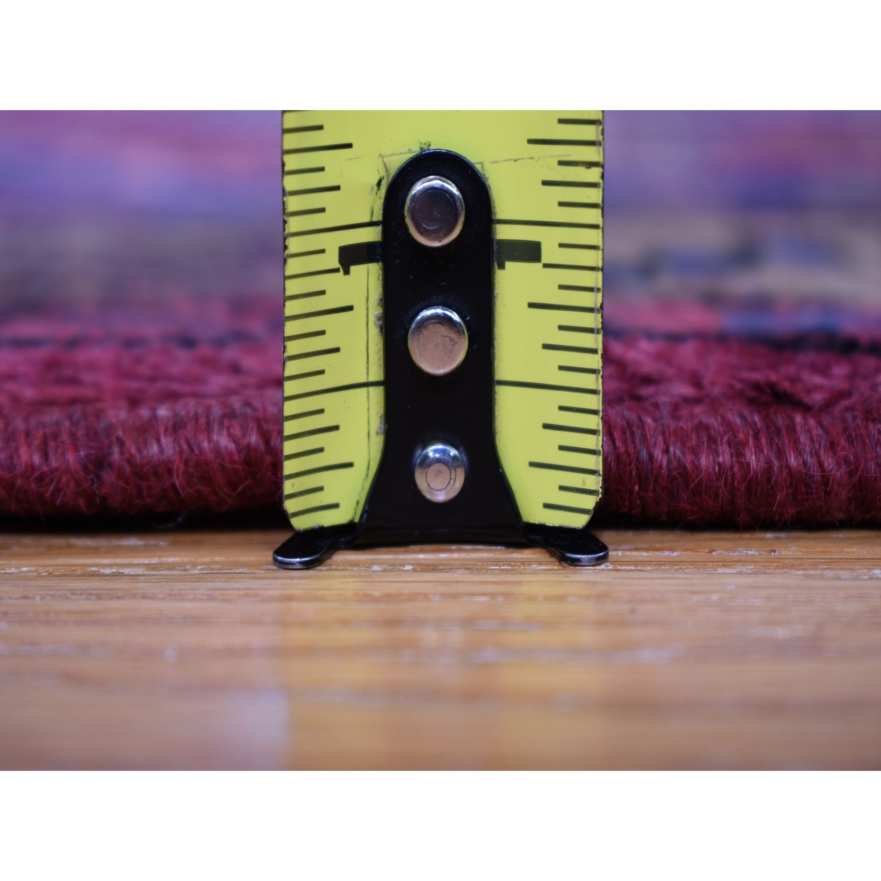 "3'4""x9'5"" Red New Persian Hamadan Geometric Design Pure Wool Hand Knotted Oriental Rug"