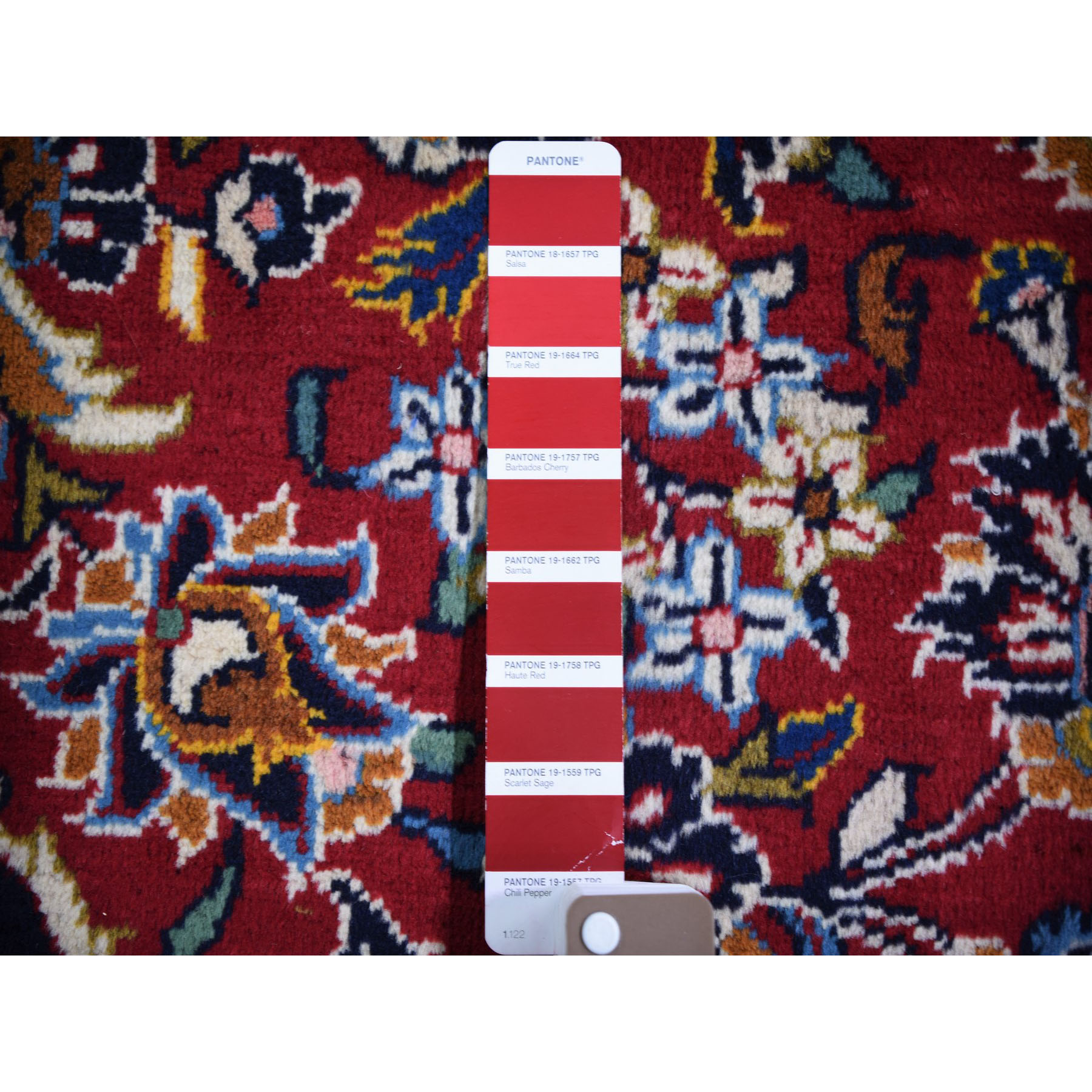 "7'10""x11'3"" Red Semi Antique Persian Kashan Full Pile Pure Wool Hand Knotted Oriental Rug"