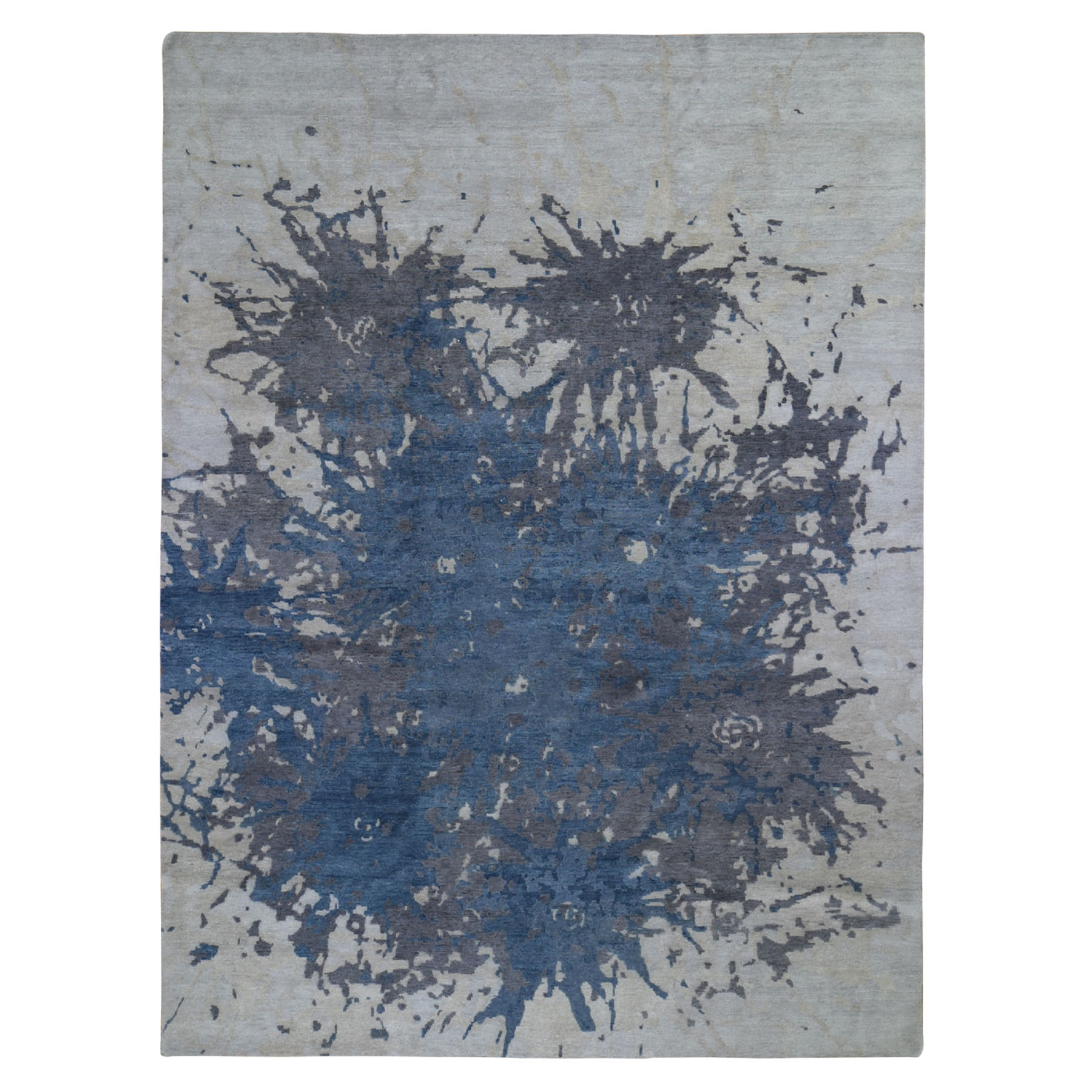 9'x12' Splash Abstract Design Pure Wool Hand Knotted Oriental Rug