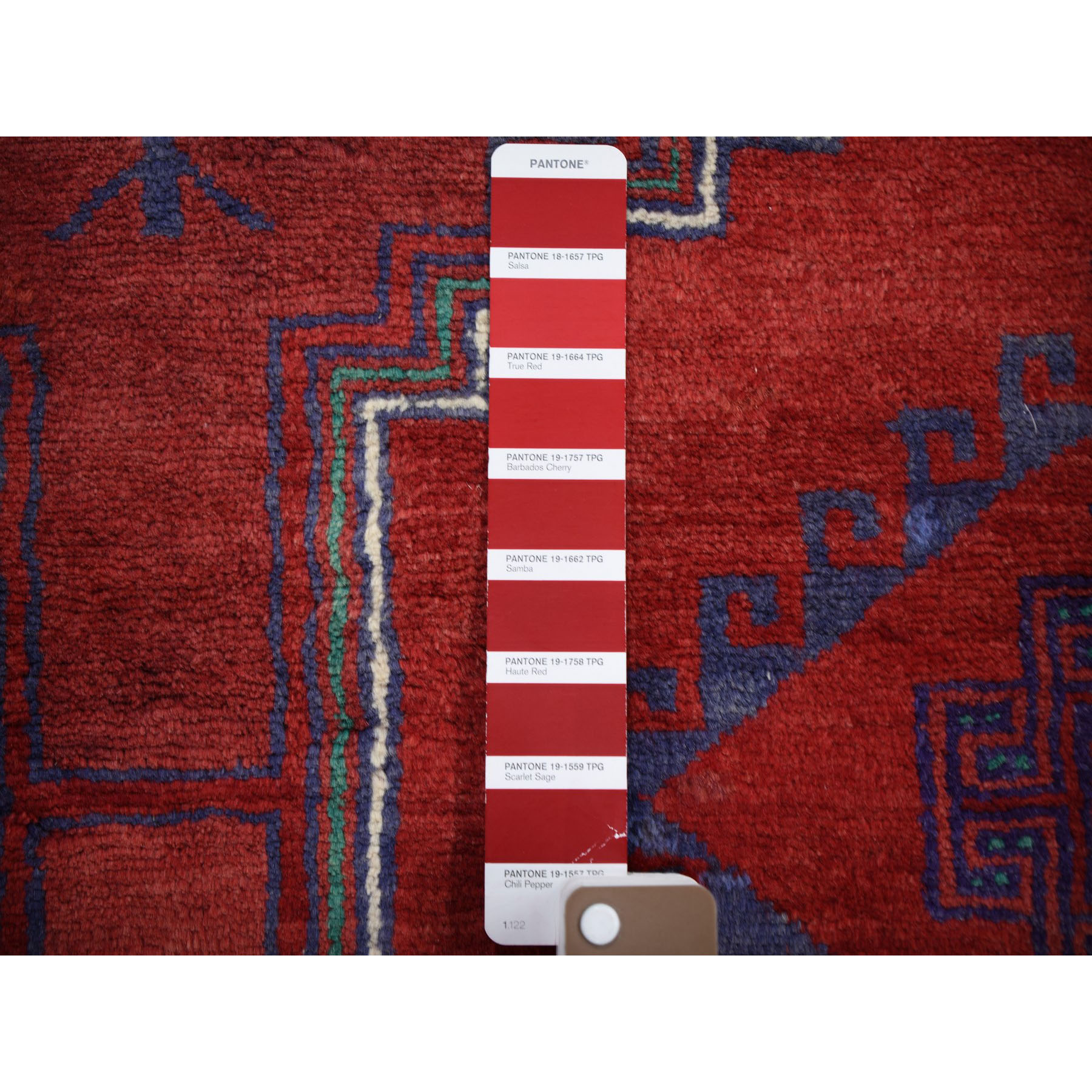 """3'8""""x4'4"""" Red Vintage Full Pile Mint Cond Hand Knotted Oriental Rug"""