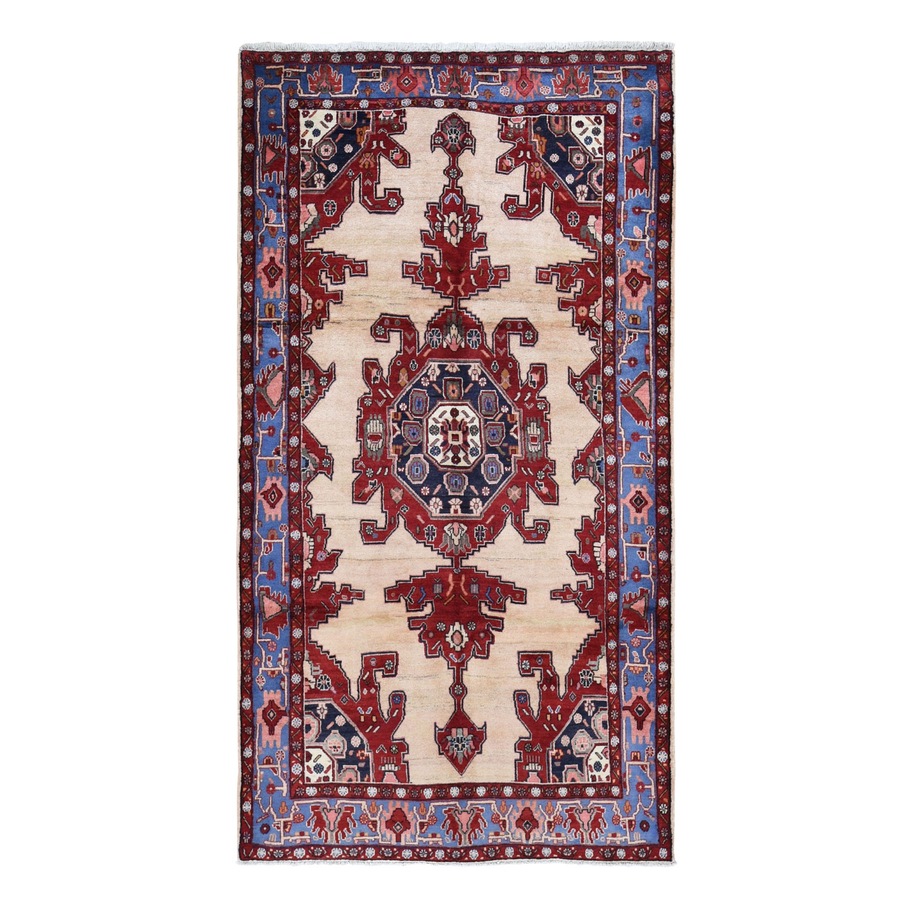"5'3""x9'10"" Gallery Size North West Persian Pure Wool Hand Knotted Oriental Rug"