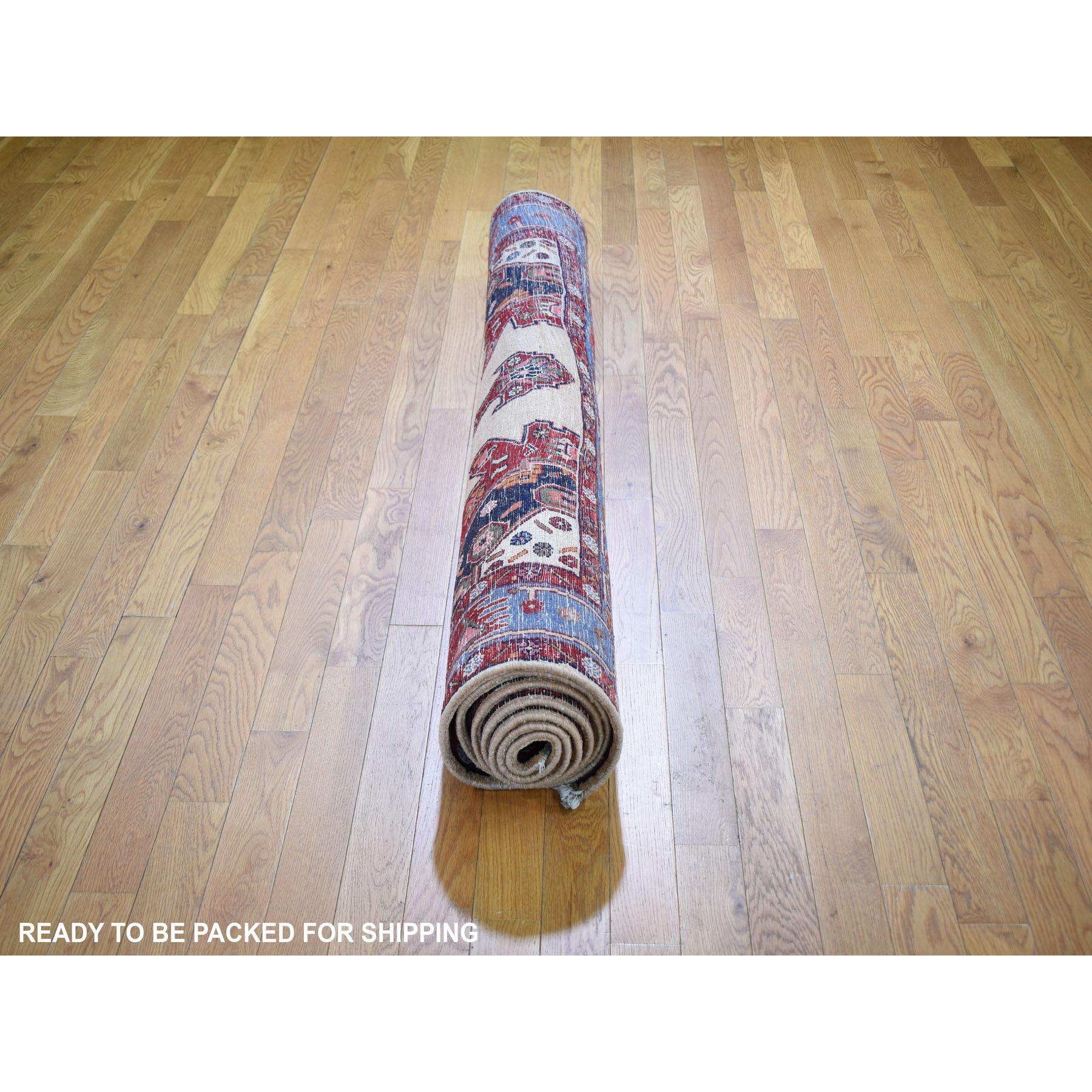 """5'3""""x9'10"""" Gallery Size North West Persian Pure Wool Hand Knotted Oriental Rug"""