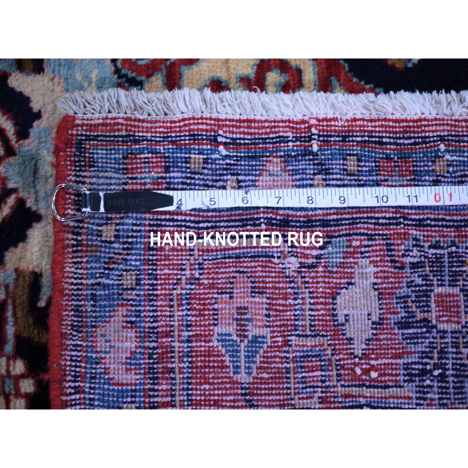 "4'4""x9'8"" Vintage Persian Nahavand Vase Design Full Pile Clean Pure Wool Hand Knotted Oriental Rug"