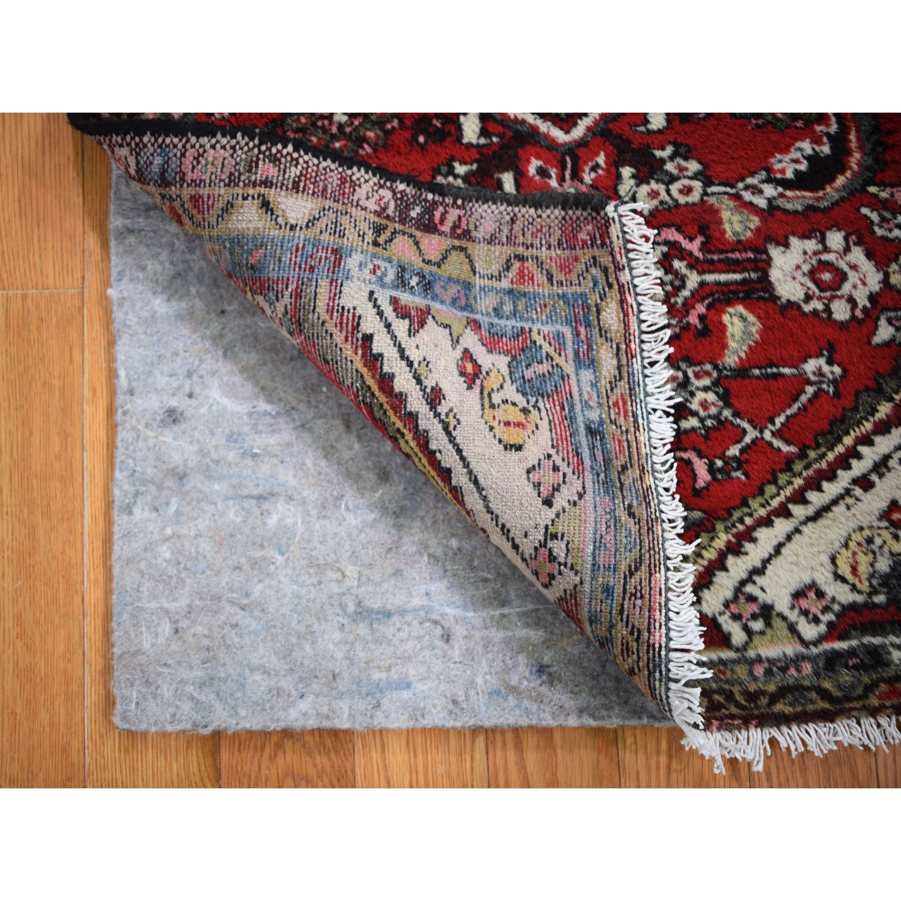 """2'2""""x3' Red Antique Clean Pure Wool Hand Knotted Tribal Oriental Rug"""