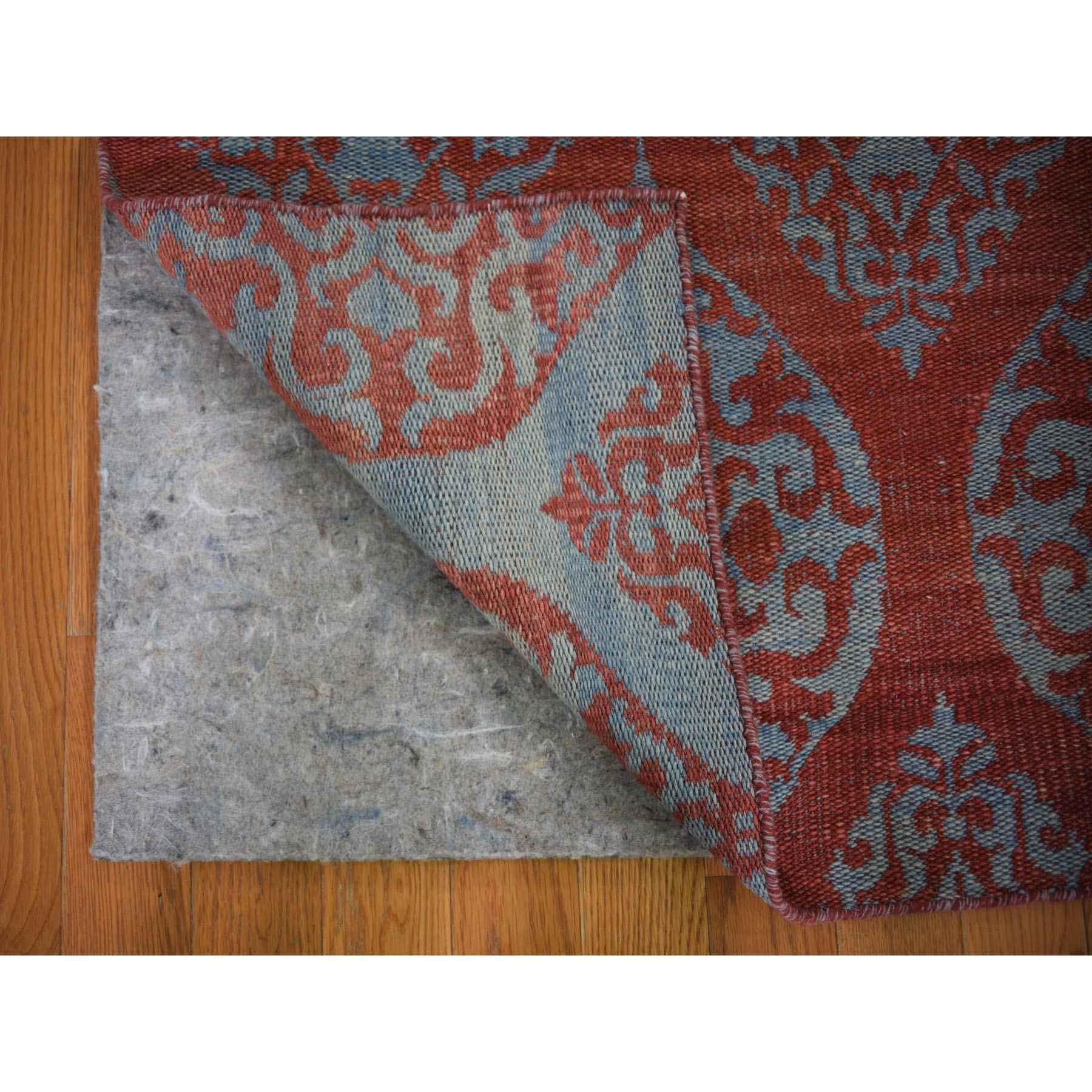 2-6 x9-1  Hand Woven Flat Weave Pure Wool Reversible Kilim Runner Oriental Rug