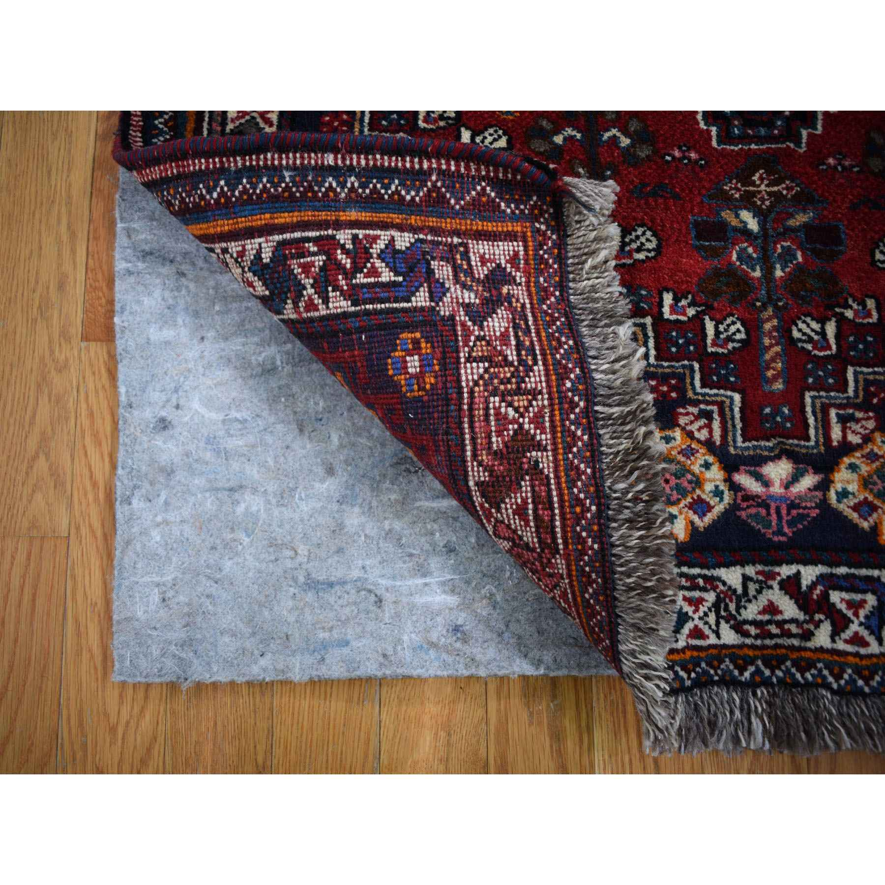 3-8 x5-4  Red New Persian Shiraz Pure Wool Hand Knotted Oriental Rug