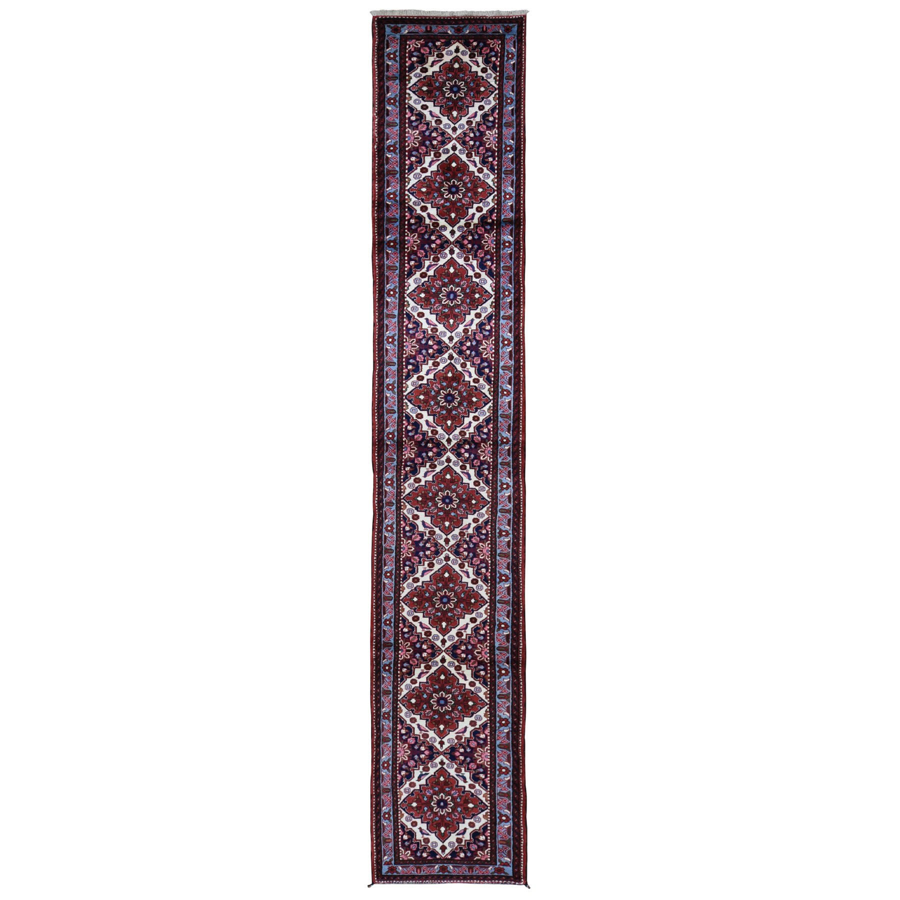 "2'5""x15'6"" New Persian Hamadan Narrow XL Runner Pure Wool Hand Knotted Oriental Rug"