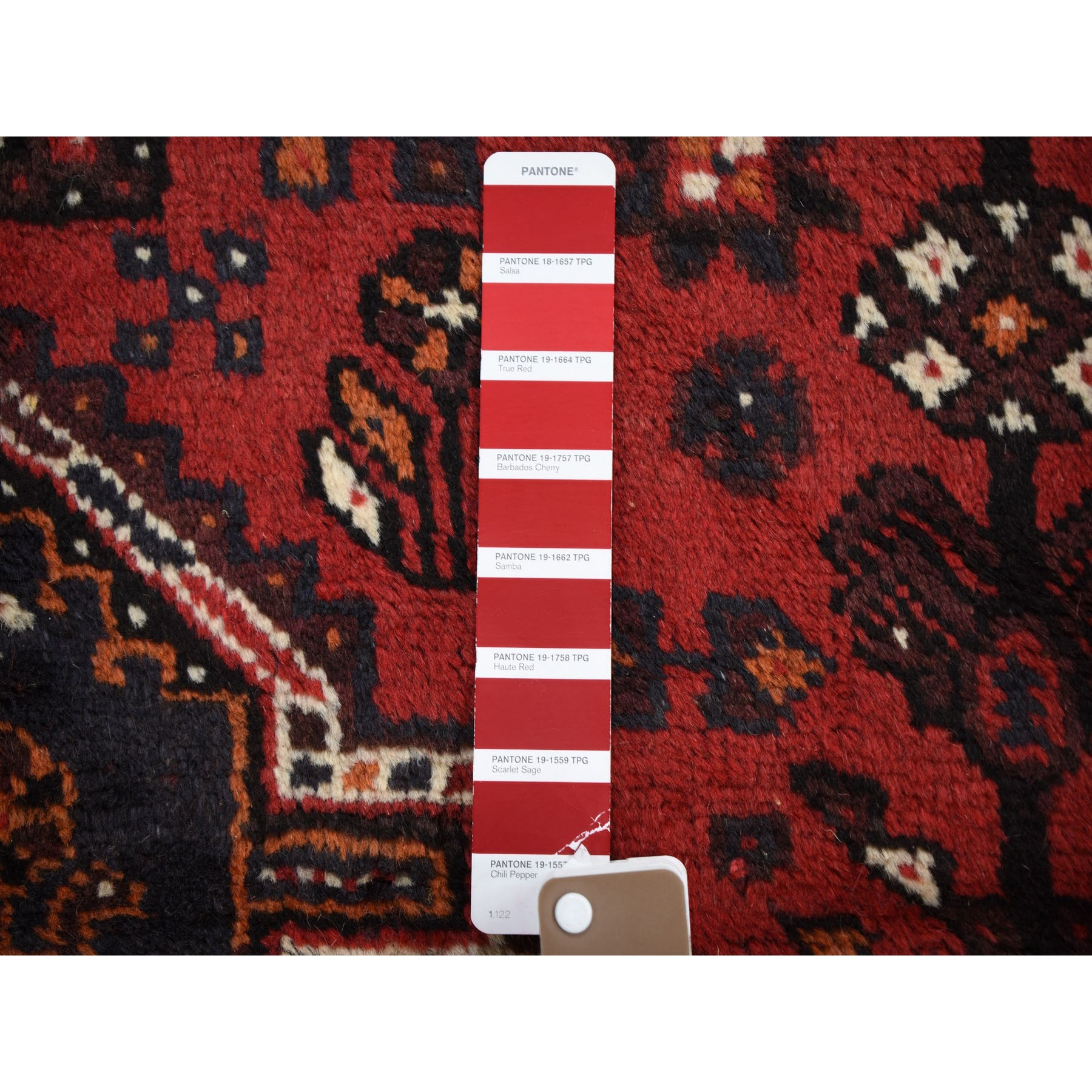 5-3 x6-6  Red New Persian Shiraz Pure Wool Hand Knotted Oriental Rug