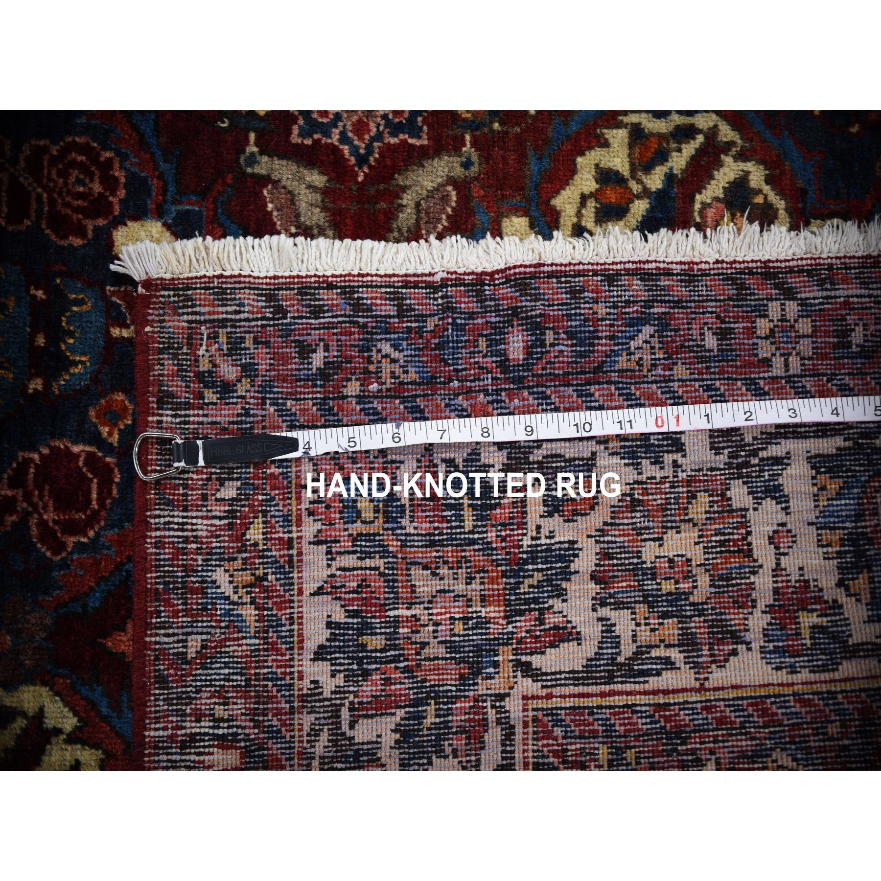 5-x7-1  Red Vintage Persian Bakhtiari Repetitive flower Design With Birds Pure Wool Knotted Oriental Rug