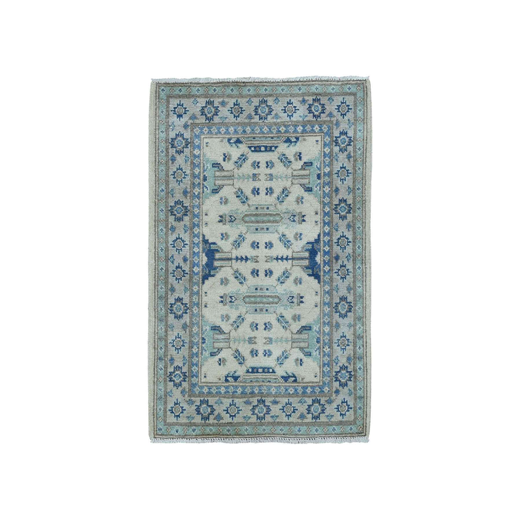 """2'X2'9""""  Pure Wool Vintage Look Kazak Hand-Knotted Oriental Rug moae0a6a"""