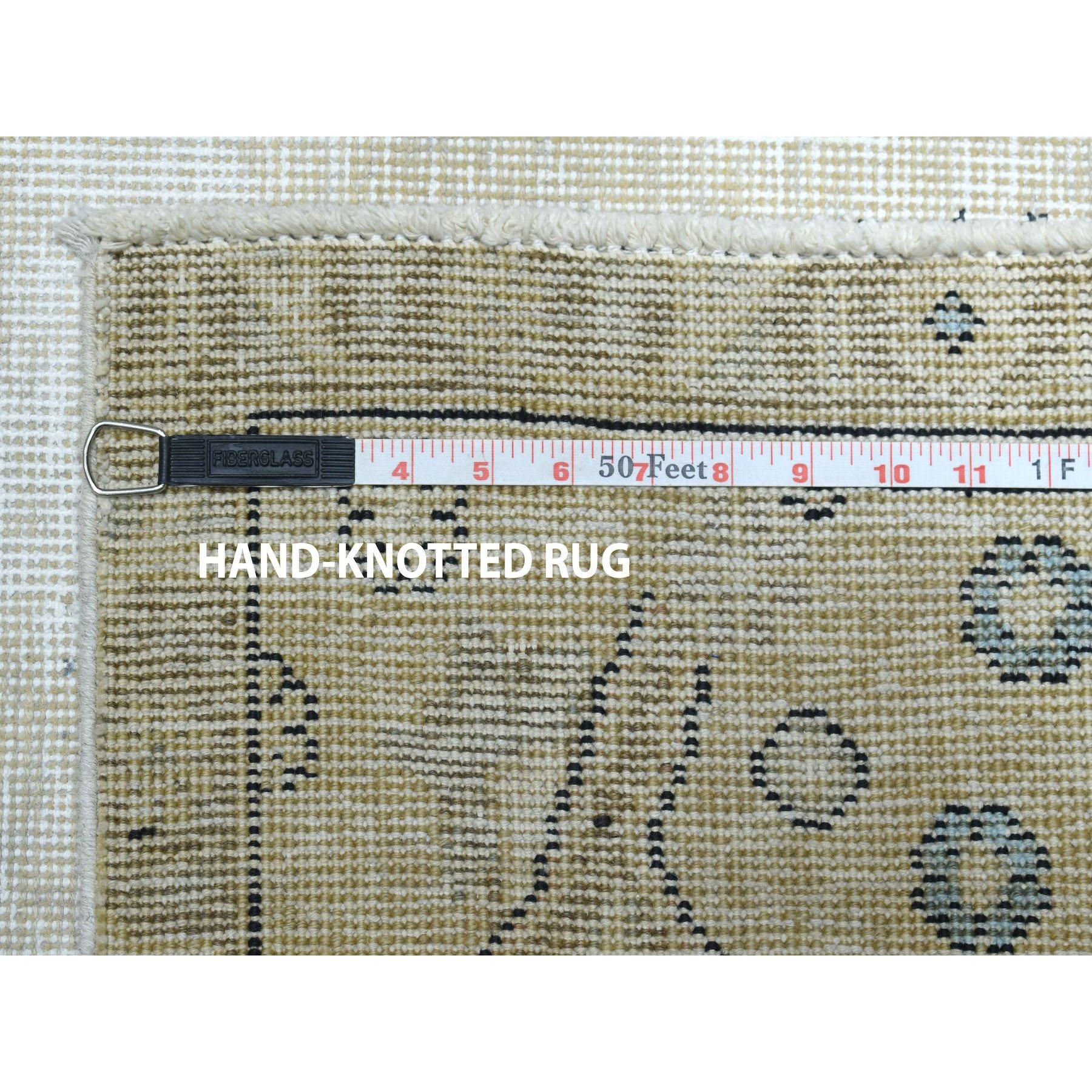 9-5 x10-8  Vintage White Wash Tabriz Worn Wool Hand-Knotted Oriental Rug