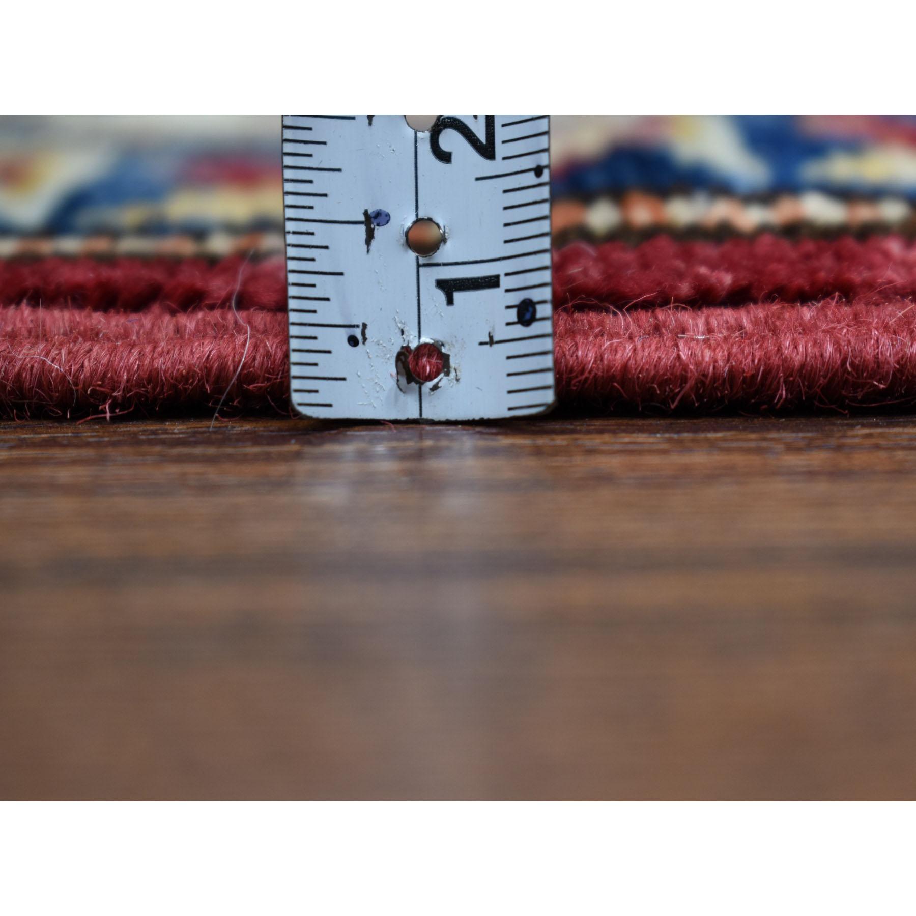 2-9 x20-3  Red Super Kazak Geometric Design XL Runner Pure Wool Hand-Knotted Oriental Rug