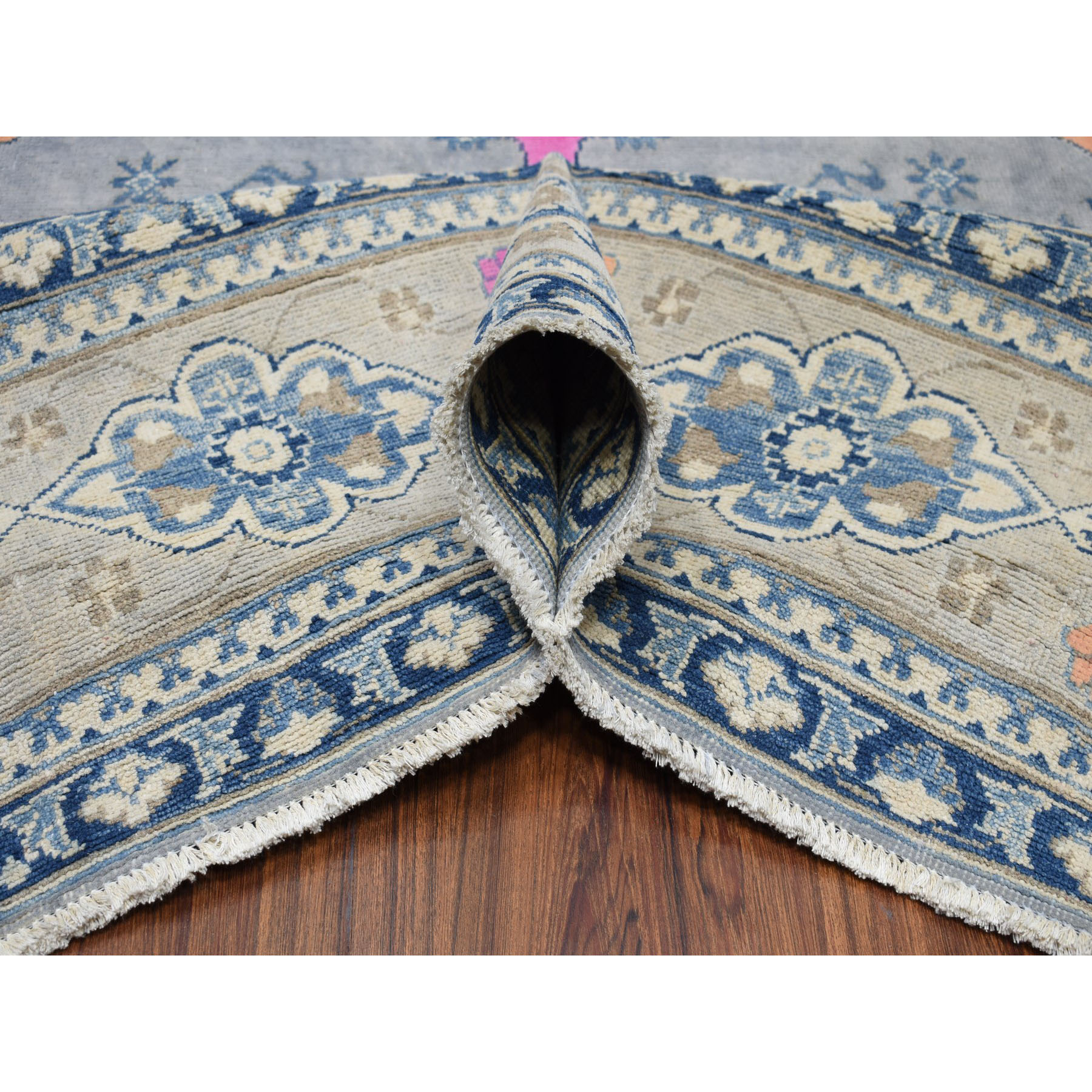 """8'10""""x12'5"""" Colorful Fusion Kazak Geometric Design Pure Wool Hand-Knotted Oriental Rug"""