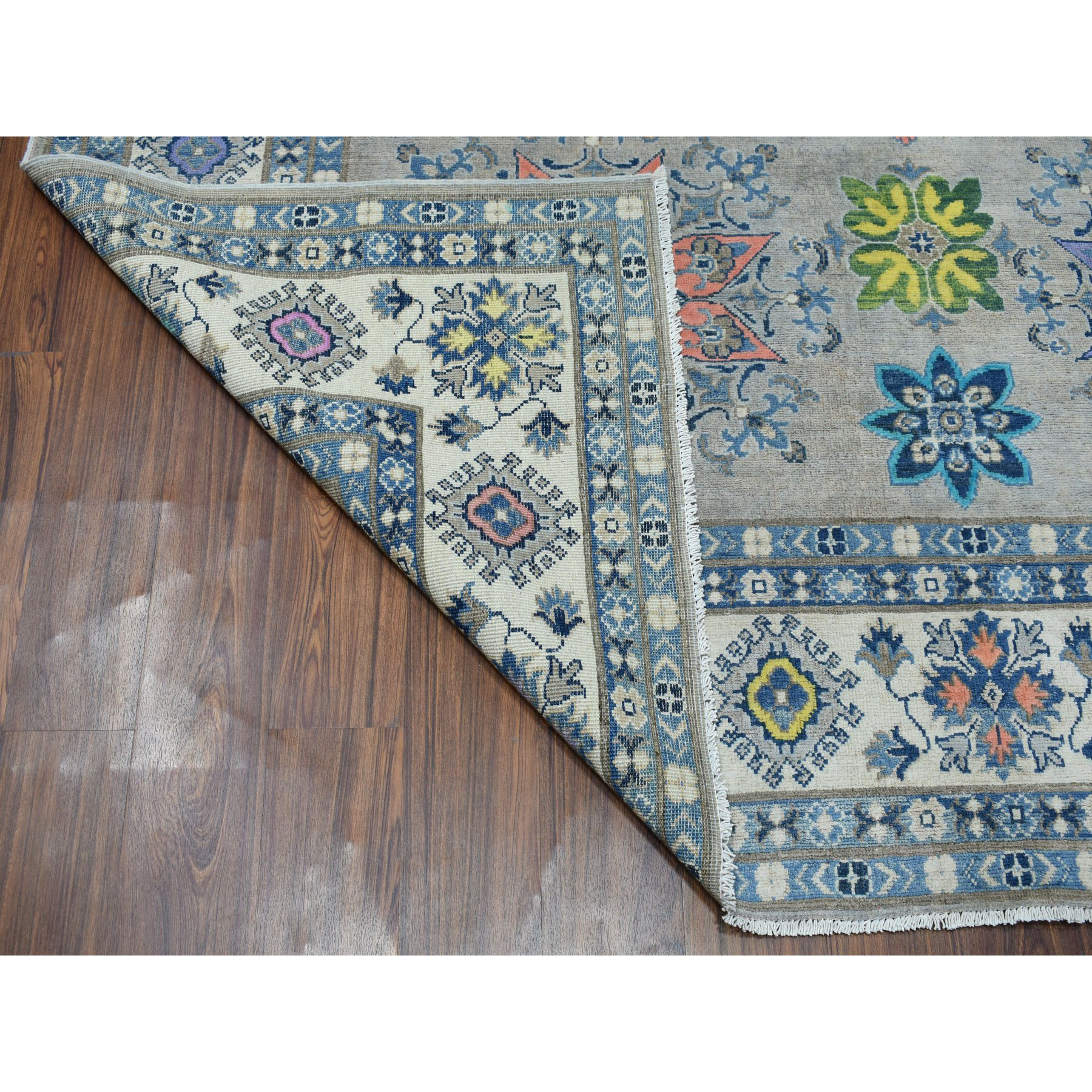 8-x9-9  Colorful Fusion Kazak Pure Wool Hand-Knotted Oriental Rug