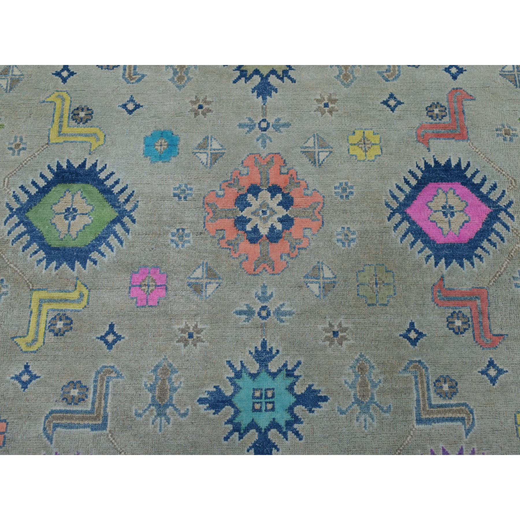 8-1 x9-10  Colorful Fusion Kazak Pure Wool Hand-Knotted Oriental Rug