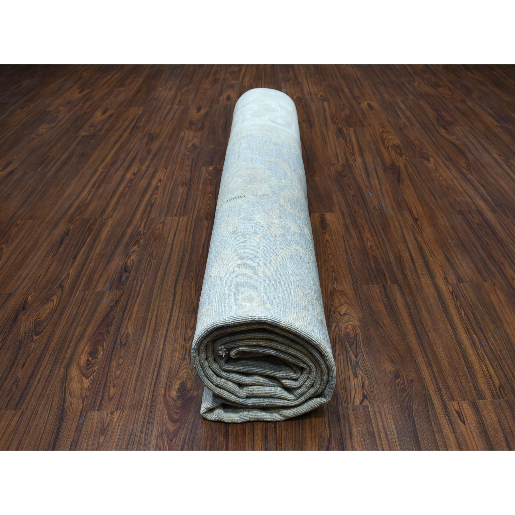10-3 x13-9  White Wash Peshawar Pure Wool Hand-Knotted Oriental Rug