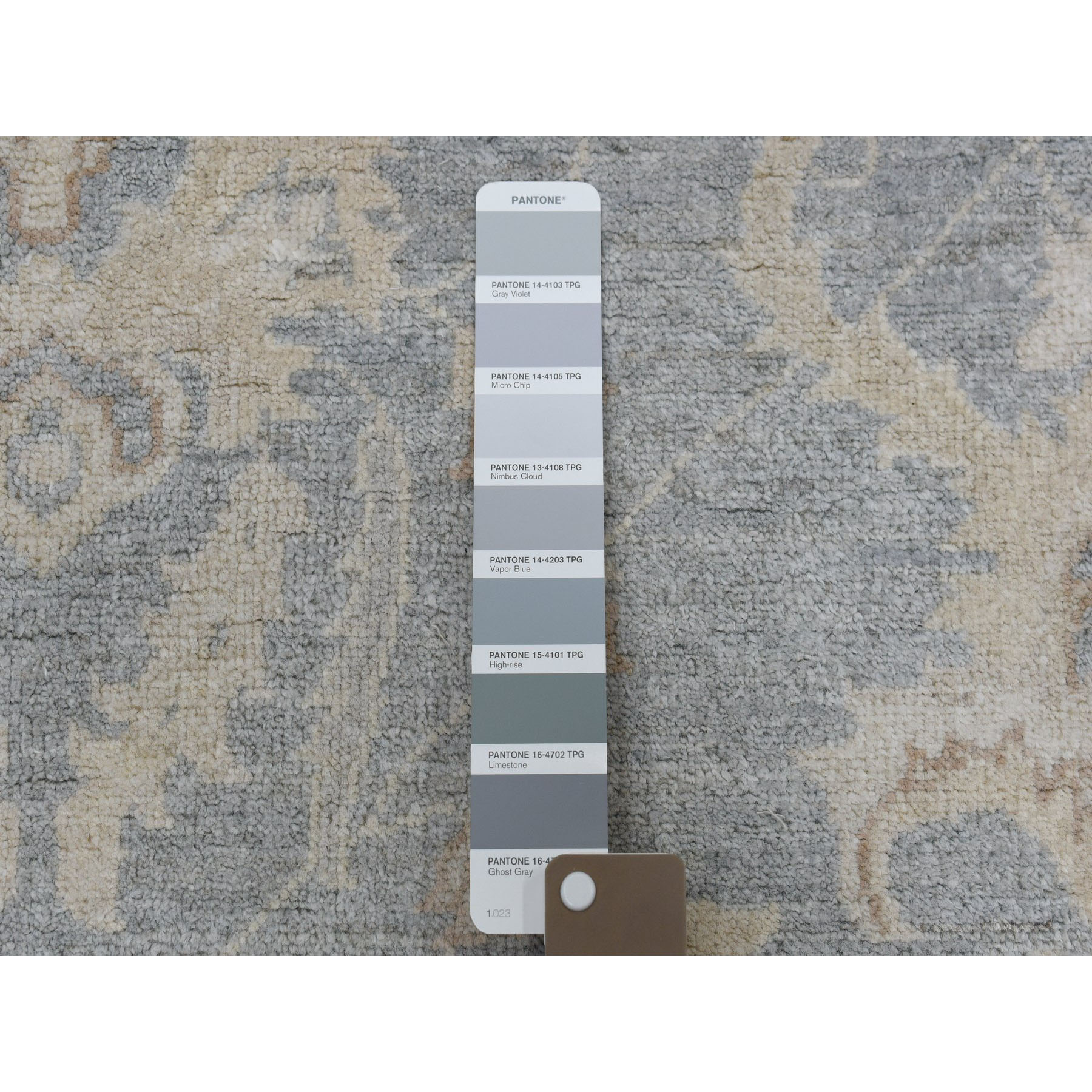 8-9 x12- White Wash Peshawar Pure Wool Hand-Knotted Oriental Rug