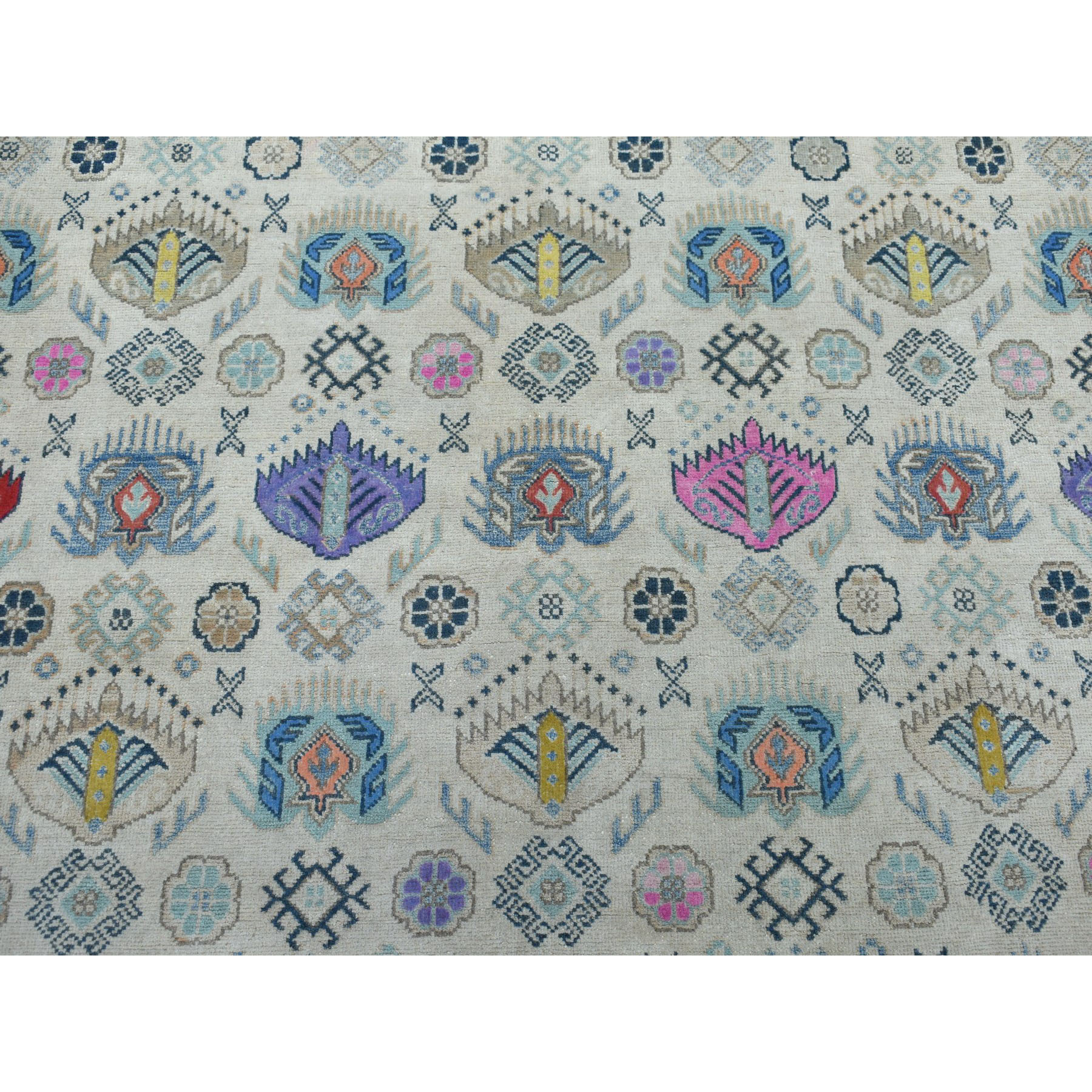 7-10 x9-10  Colorful Fusion Kazak Pure Wool Hand-Knotted Oriental Rug