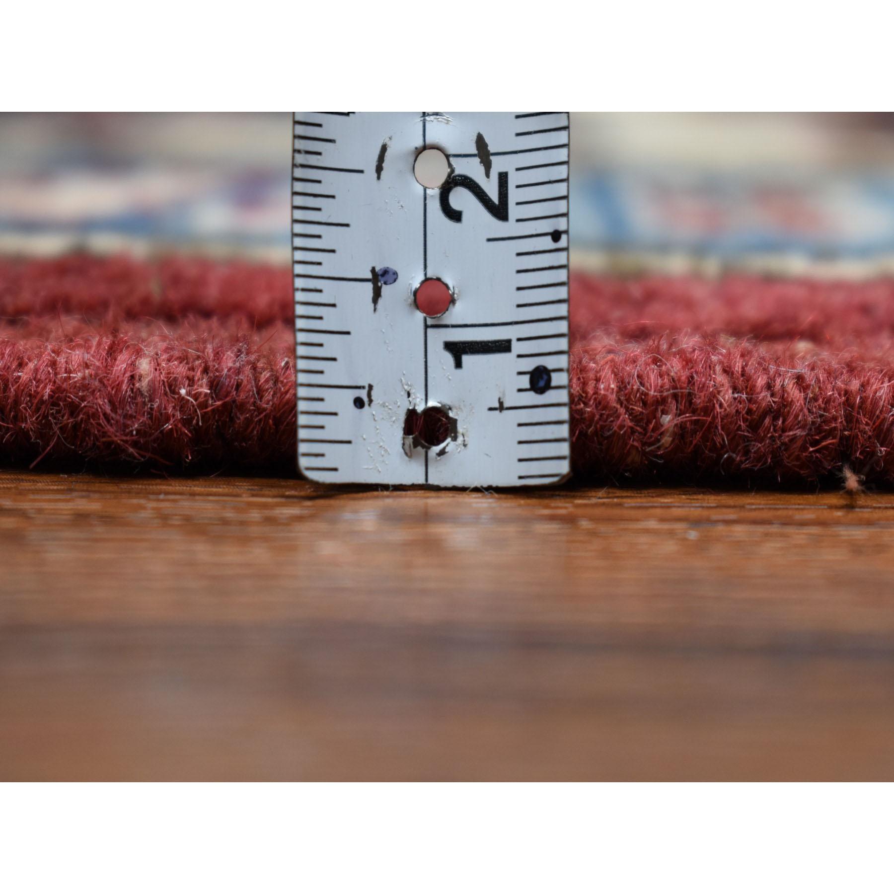 5-x6-10  Red Geometric Design Kazak Pure Wool Hand-Knotted Oriental Rug