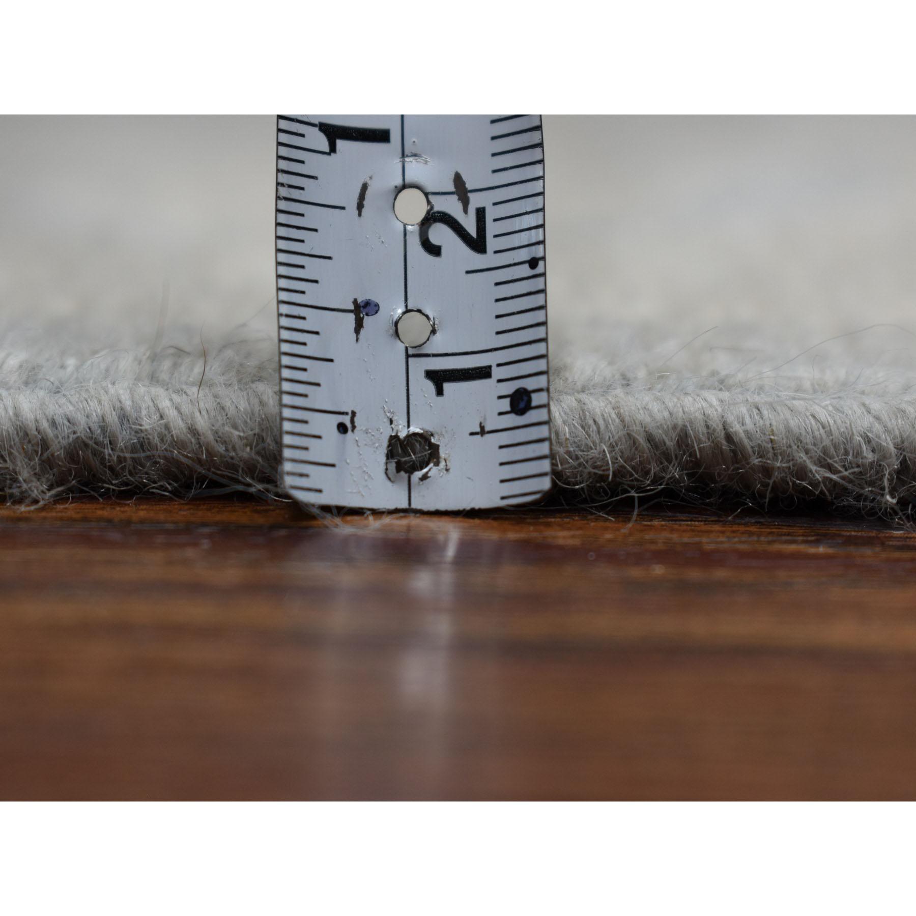 2-5 x15-3  White Wash Peshawar Pure Wool Hand-Knotted Oriental Runner Rug