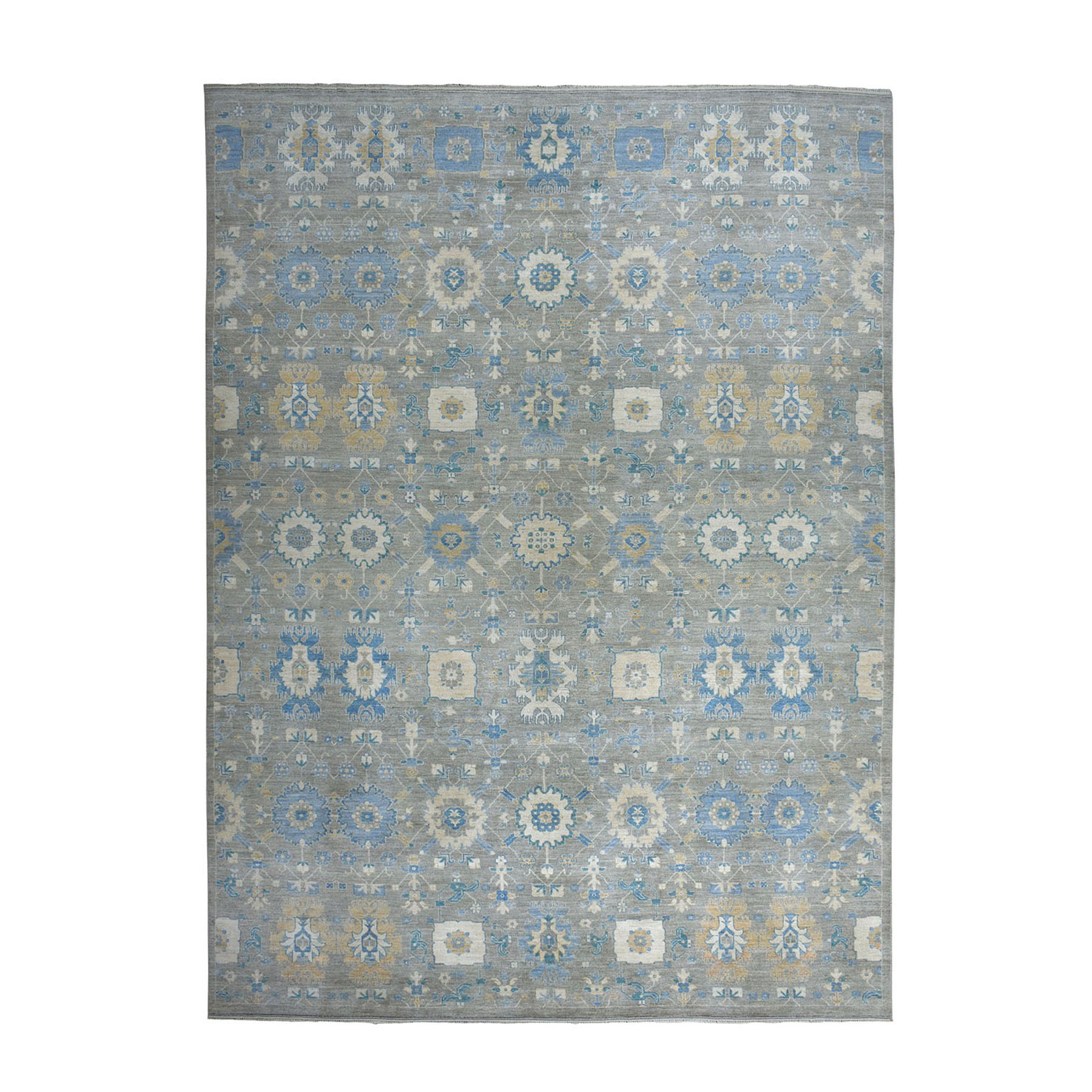 10'X14' All Over Design Fabric Collection Peshawar Hand-Knotted Oriental Rug moae08c0