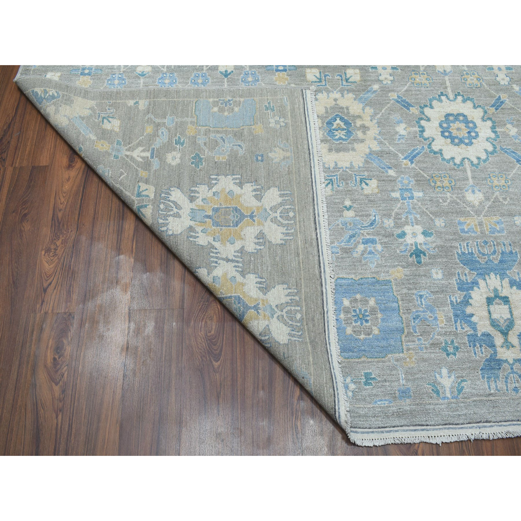 10'x14' All Over Design Fabric Collection Peshawar Hand-Knotted Oriental Rug