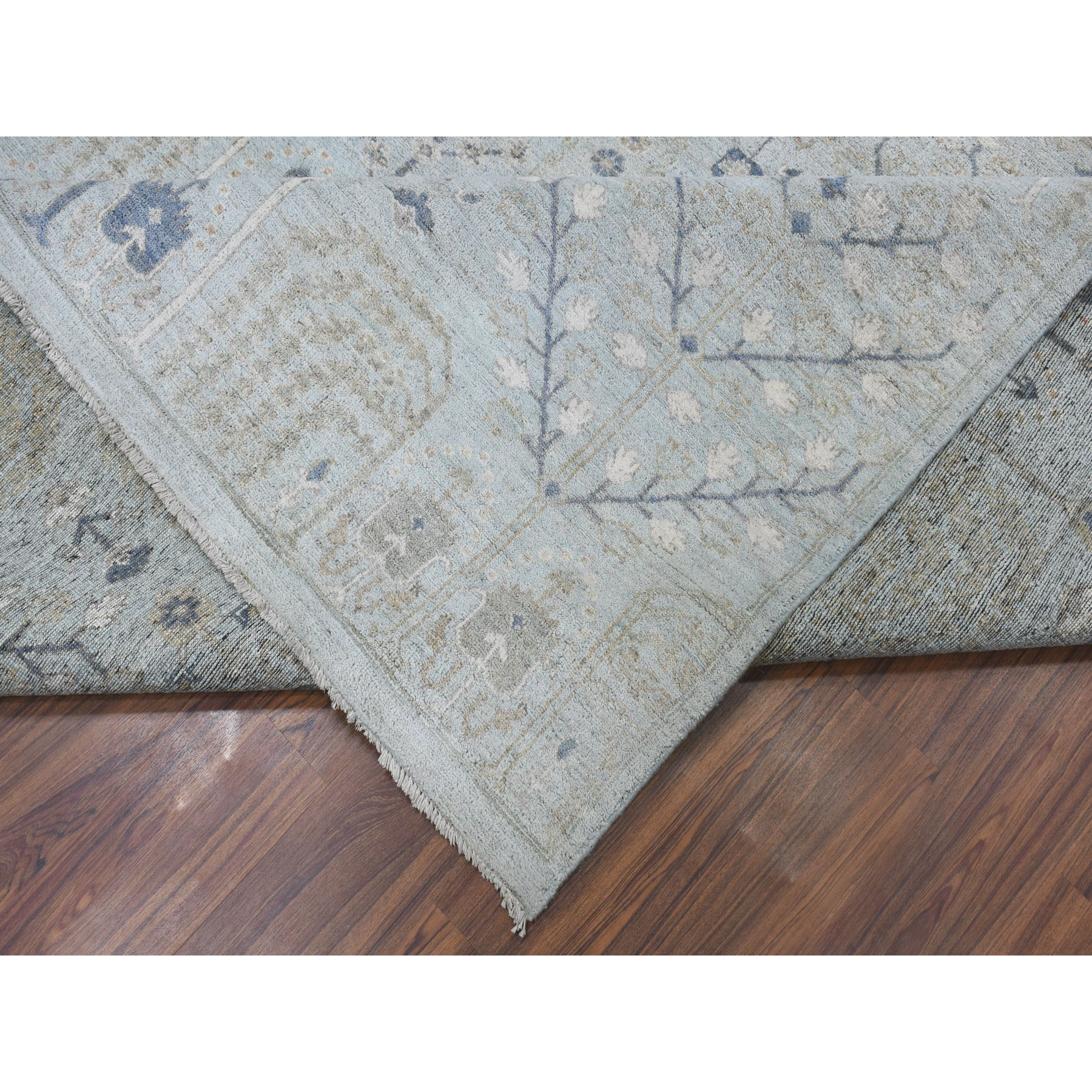 "10'x14'3"" All Over Design Fabric Collection Peshawar Hand-Knotted Oriental Rug"
