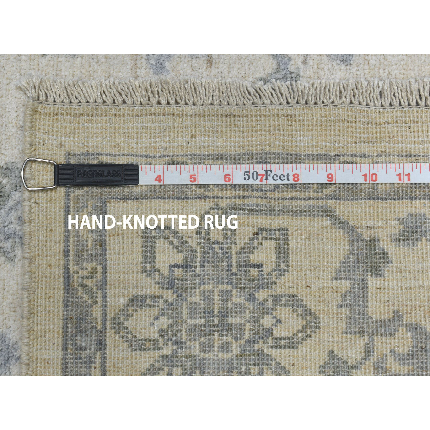 4'x6' White Wash Peshawar Pure Wool Hand-Knotted Oriental Rug
