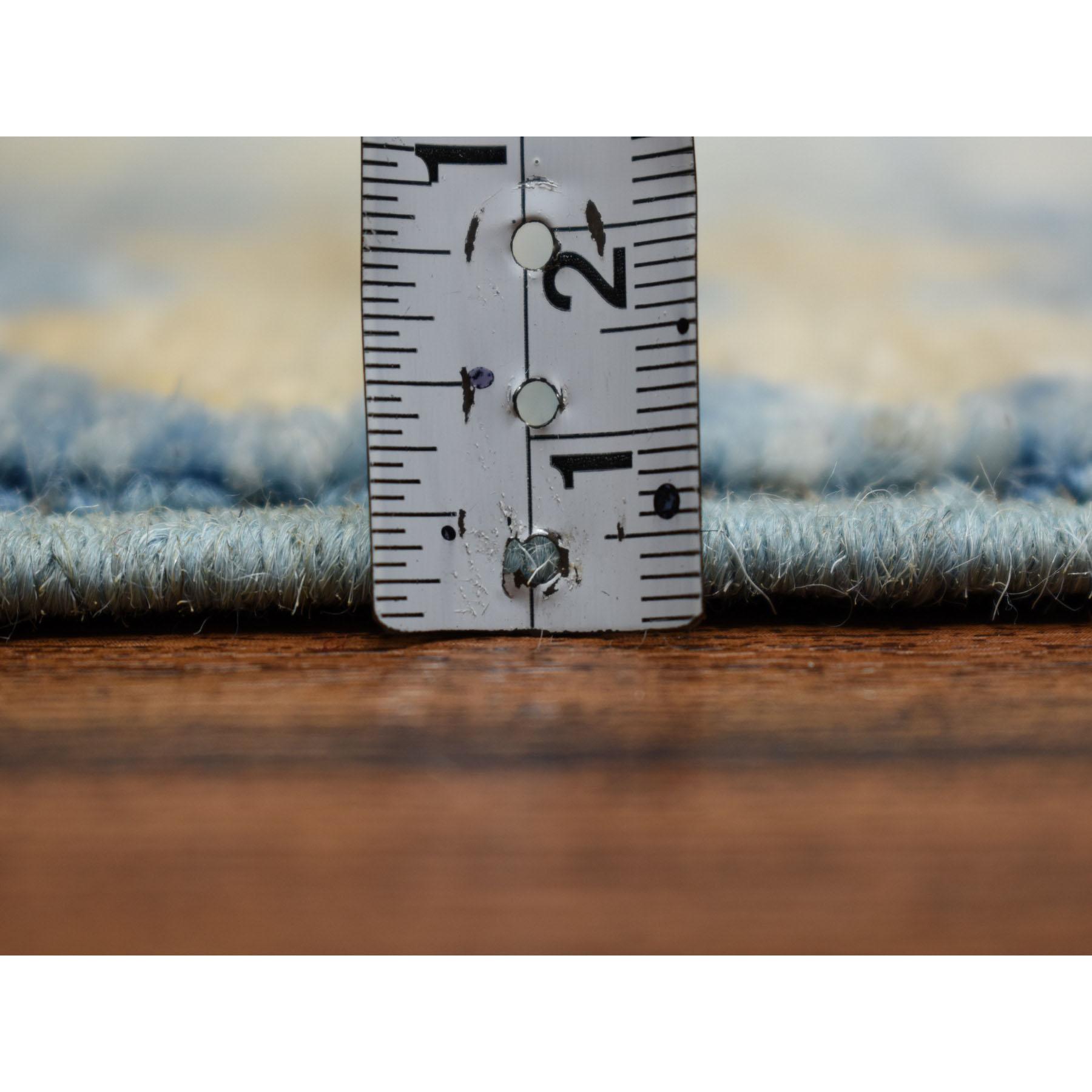 "12'x17'5"" Oversized White Wash Peshawar Samarkand Hand-Knotted Pure Wool Oriental Rug"