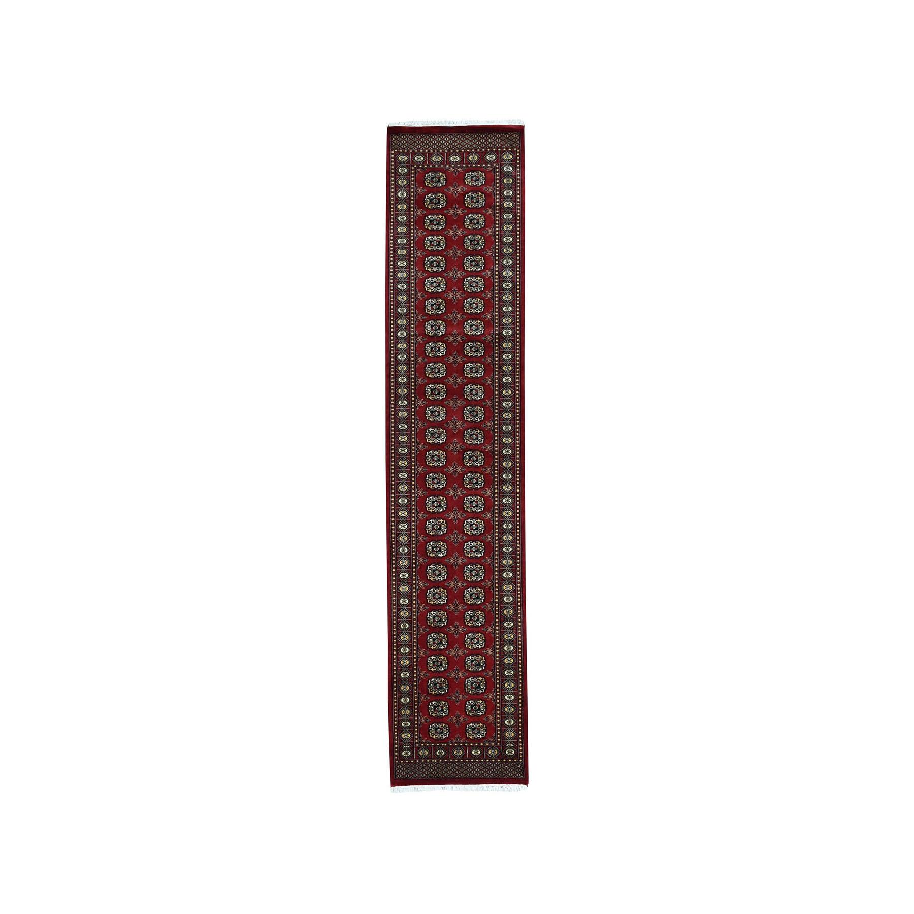"""2'7""""X10' Red Super Fine Bokara Elephant Feet Design Runner Hand-Knotted Oriental Rug moaea0e0"""
