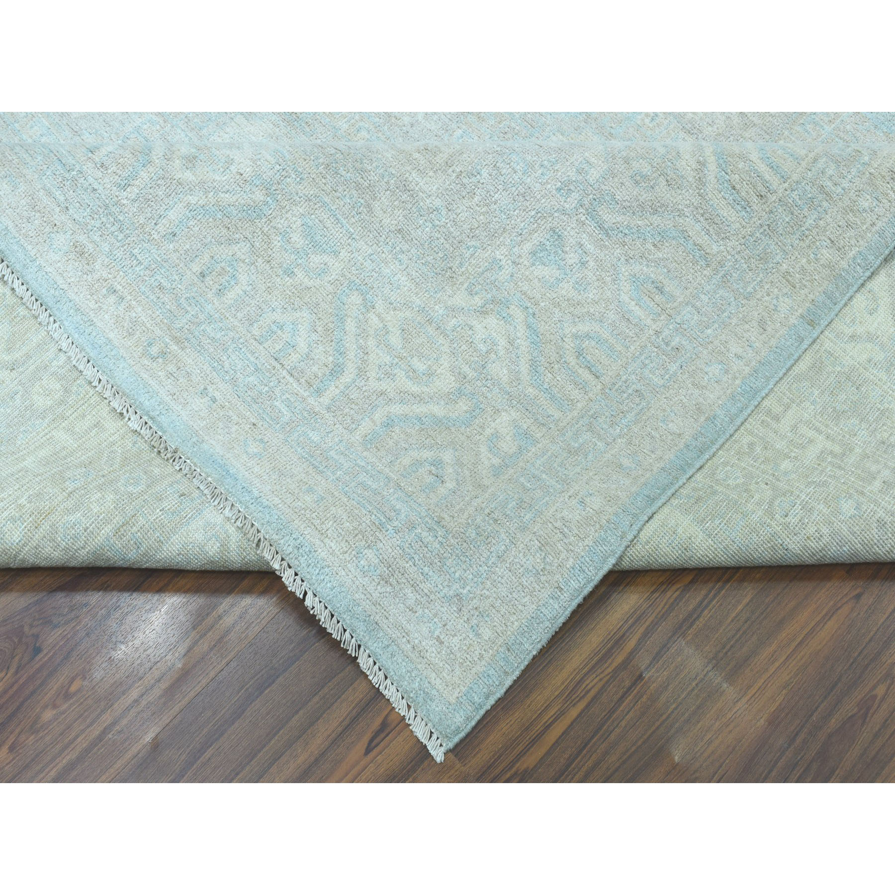 10-3 x13-8  White Wash Peshawar Pure Wool Hand-Knotted Oriental Rug