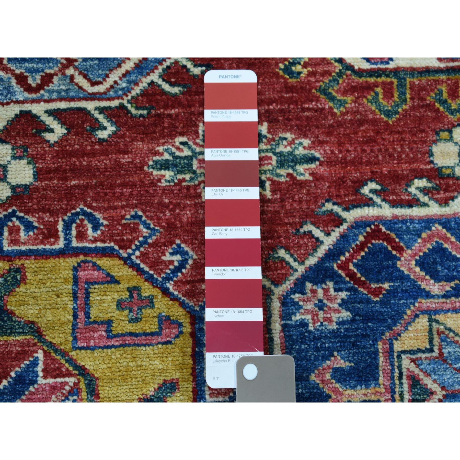 10-8 x14-2  Red Super Kazak Pure Wool Geometric Design Hand-Knotted Oriental Rug
