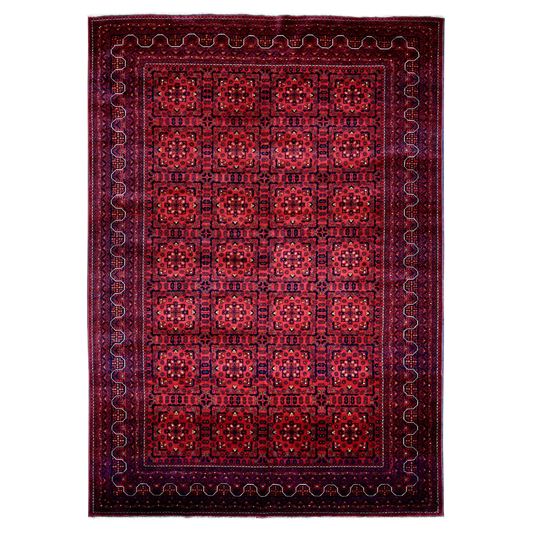 """8'X11'3"""" Afghan Khamyab Natural Dyes Pure Wool Hand-Knotted Oriental Rug moaeaa6c"""