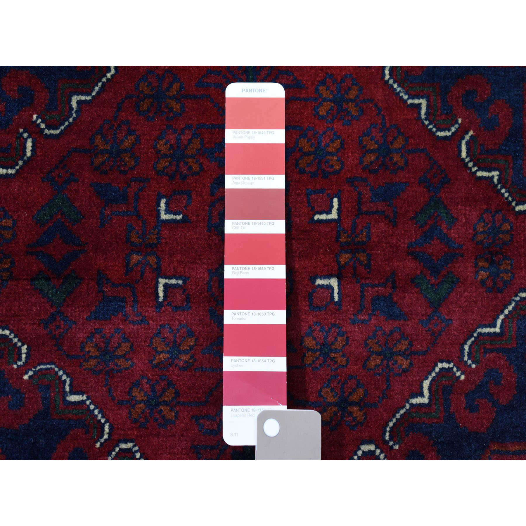 8-1 x11-2  Repetitive Design Pure Wool Afghan Khamyab Hand-Knotted Oriental Rug